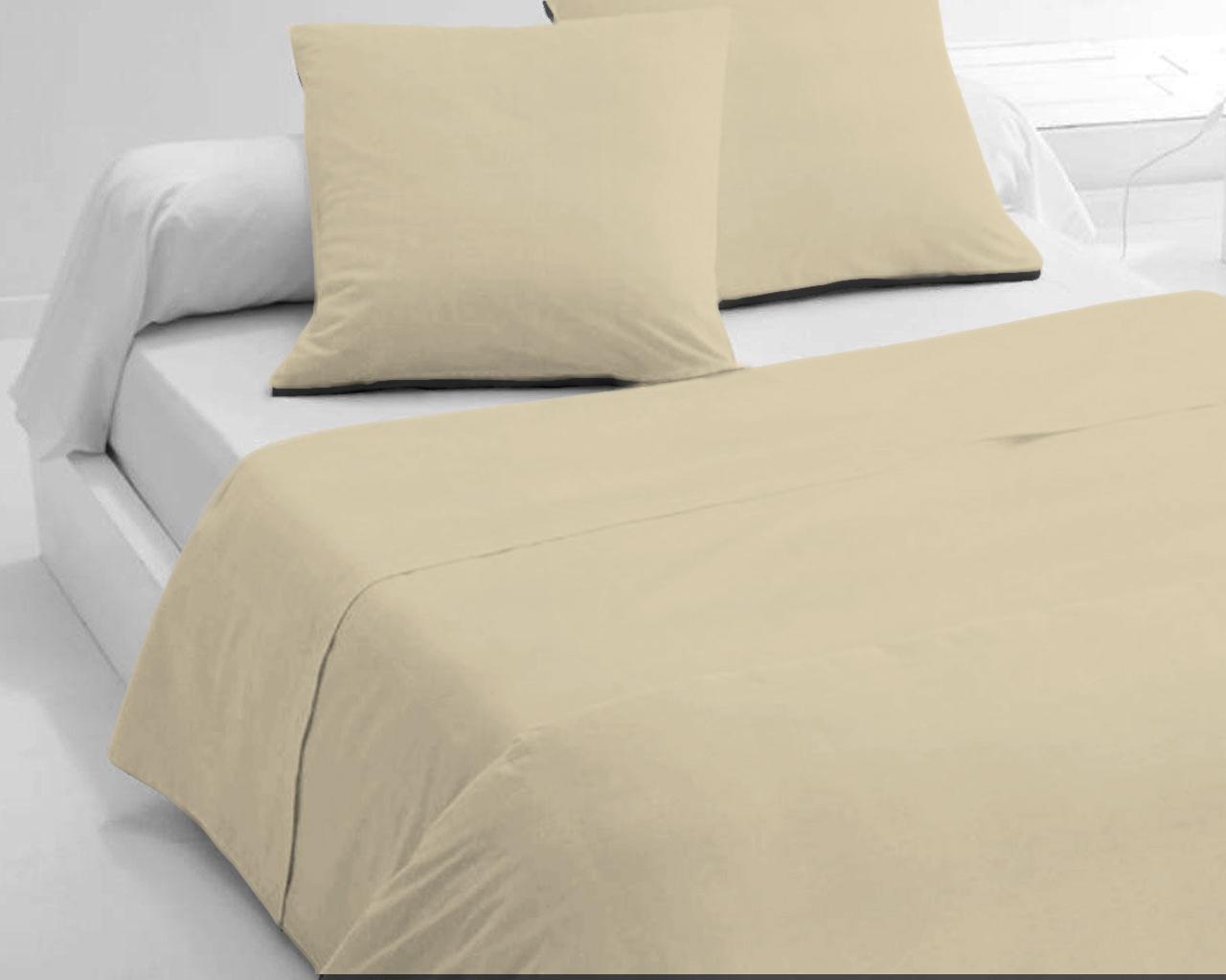 Draps de lit en coton Beige 300x240