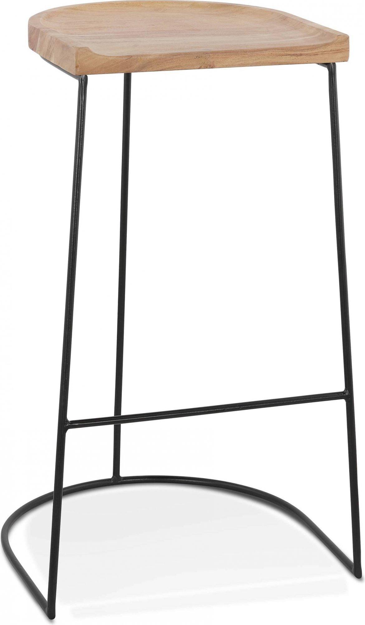 Tabouret de bar tradition assise bois clair h assise 79cm