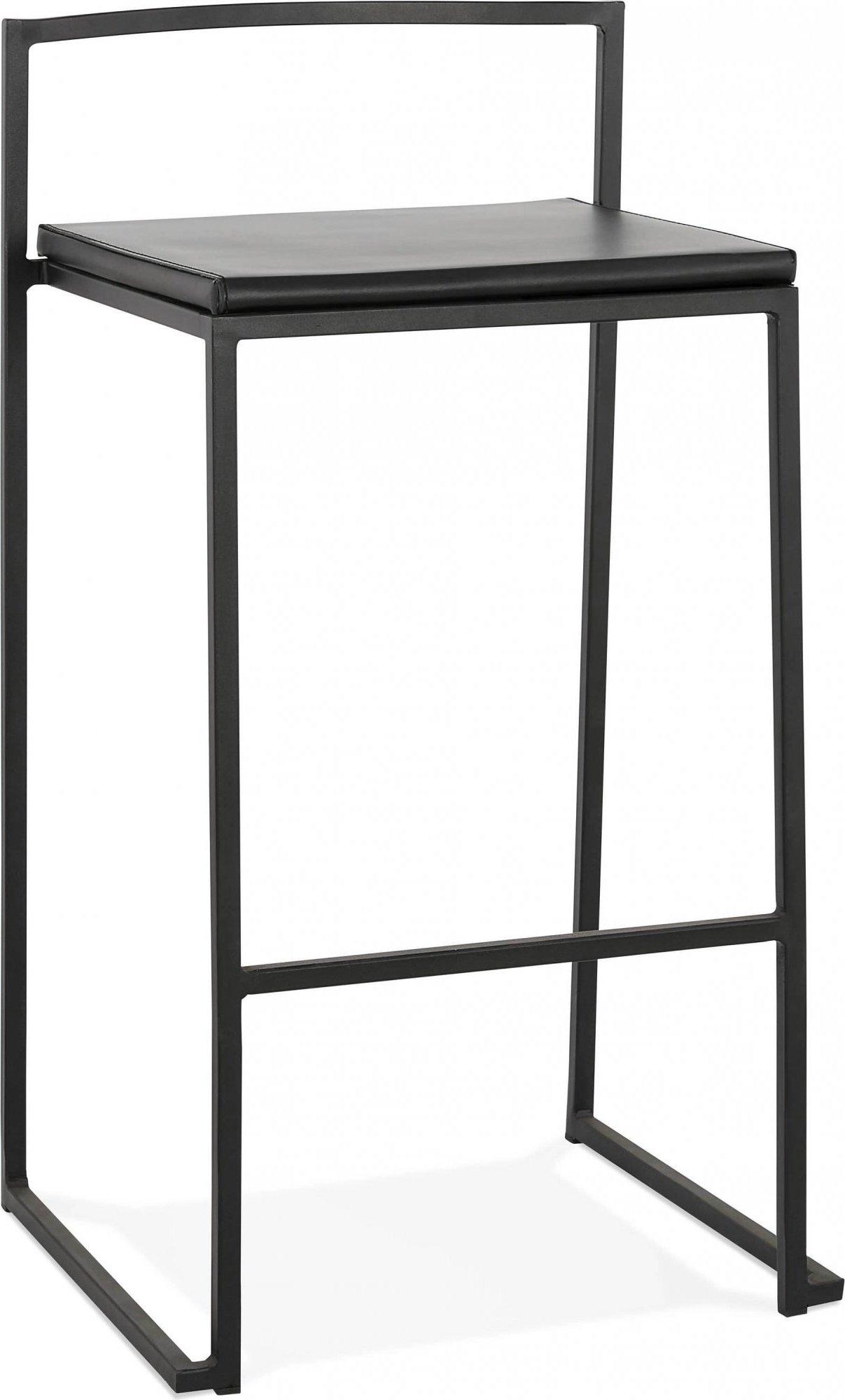 Tabouret de bar minimaliste imitation noir