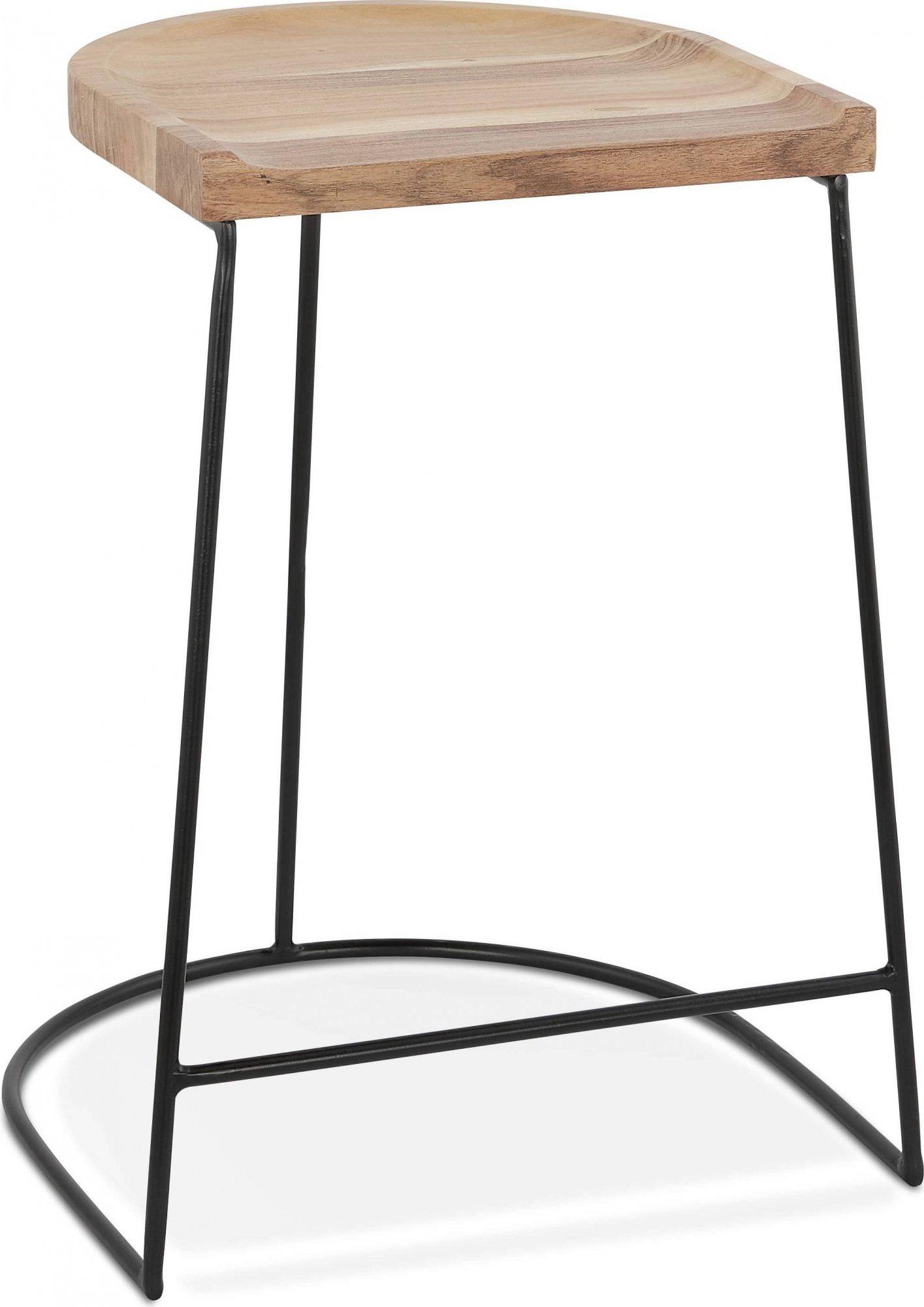 Tabouret de bar tradition assise bois h assise 65cm