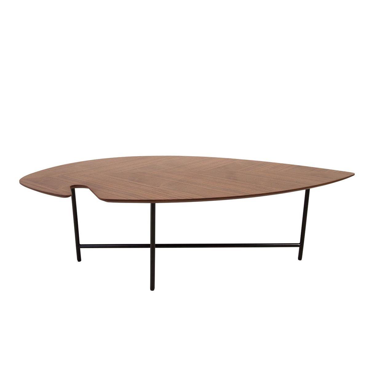 Table basse 120 cm plaqué noyer