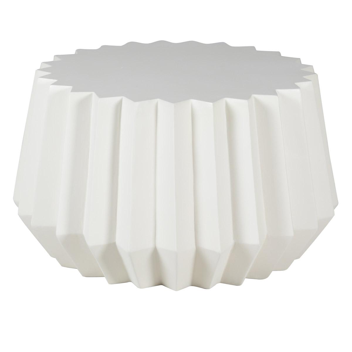 maison du monde Table basse en béton blanc D 70 cm
