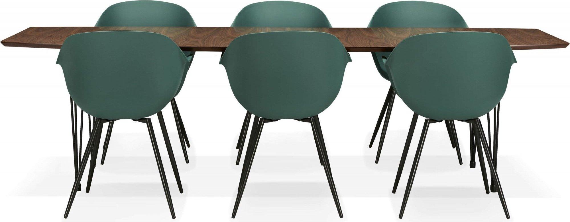 Table à manger plateau bois foncé 10 places l270cm