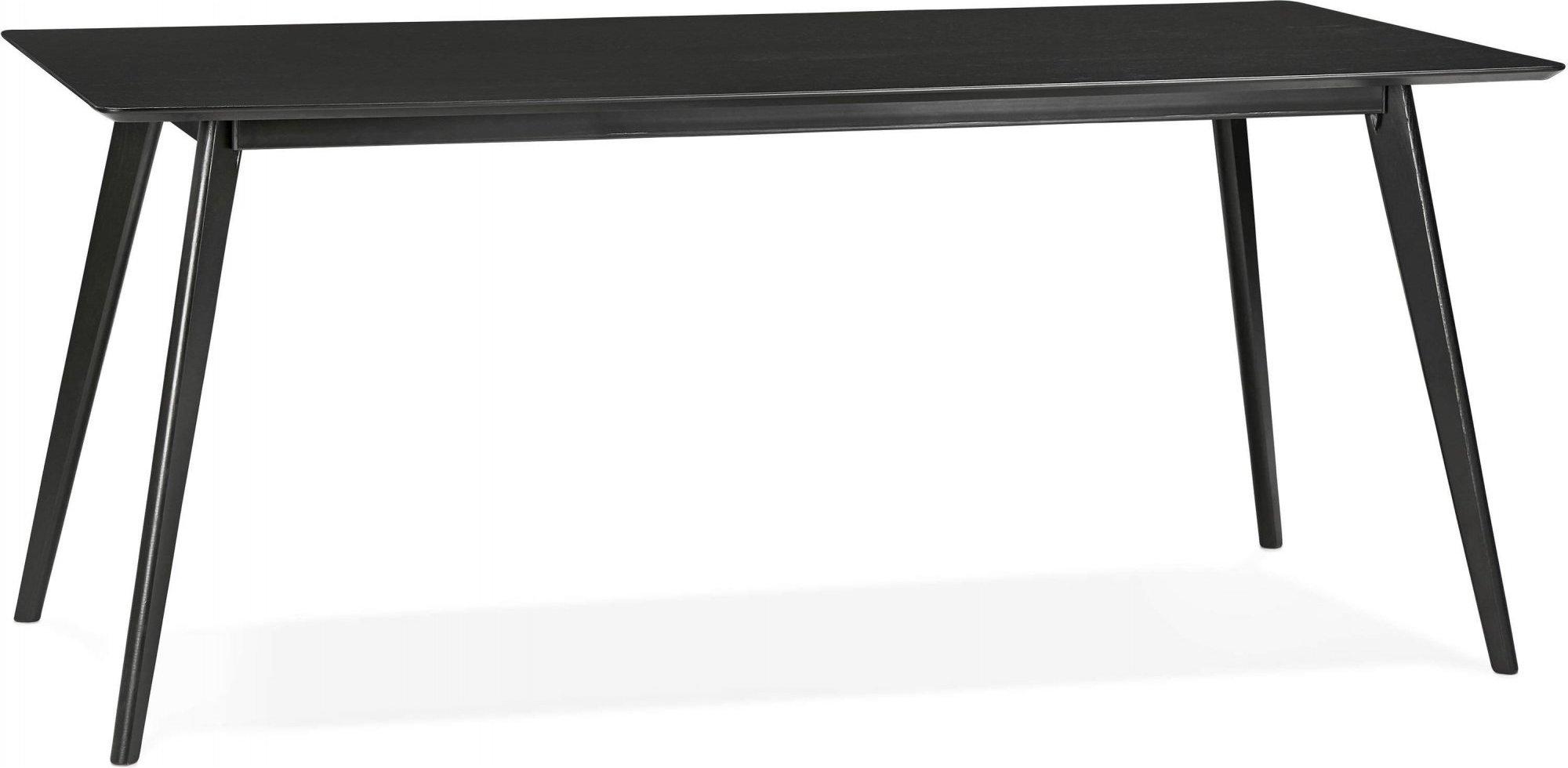 Table à diner en bois couleur noir 4 places l90cm