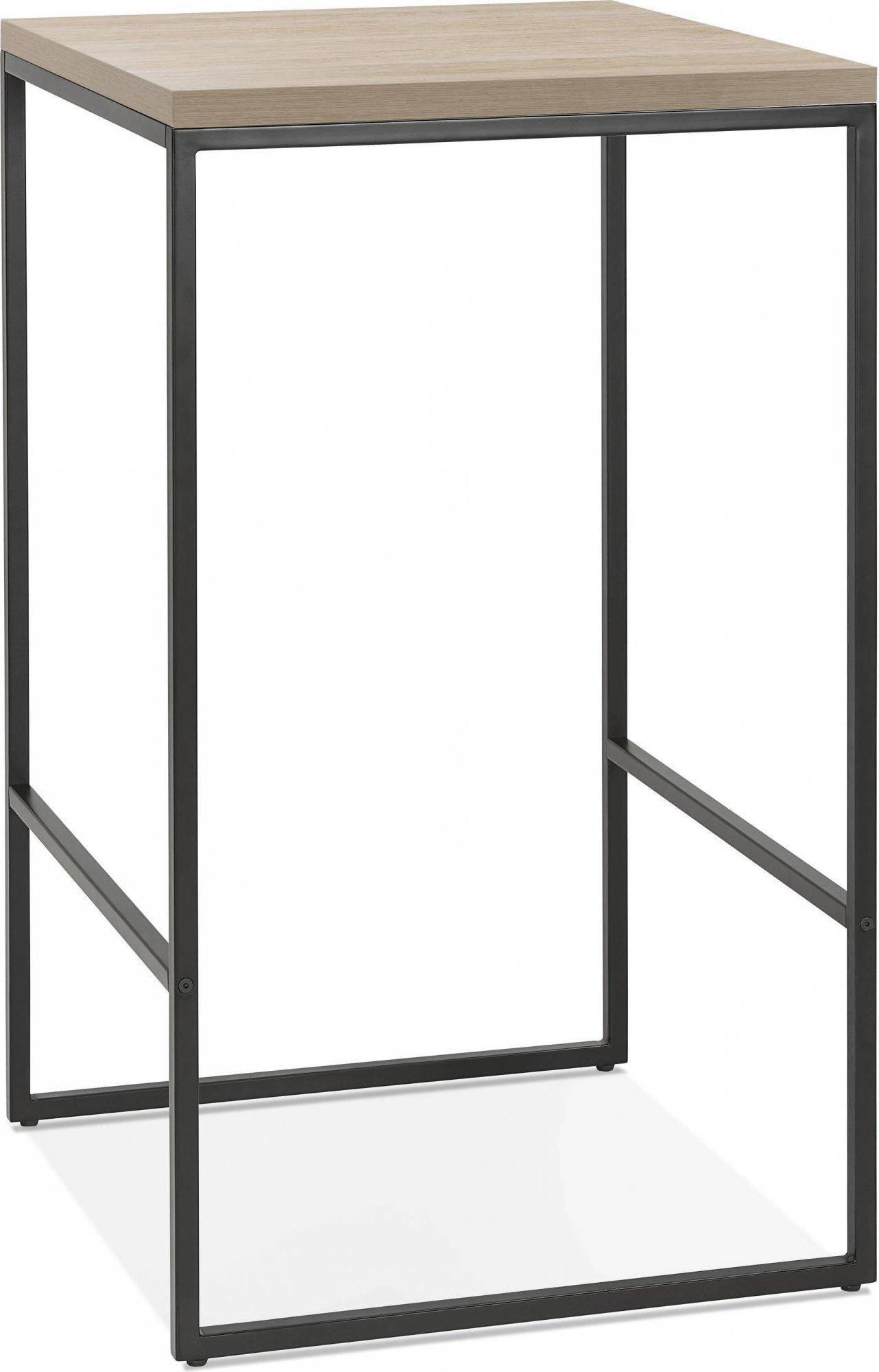 Mange debout table haute bois clair et noir 2 places l60cm