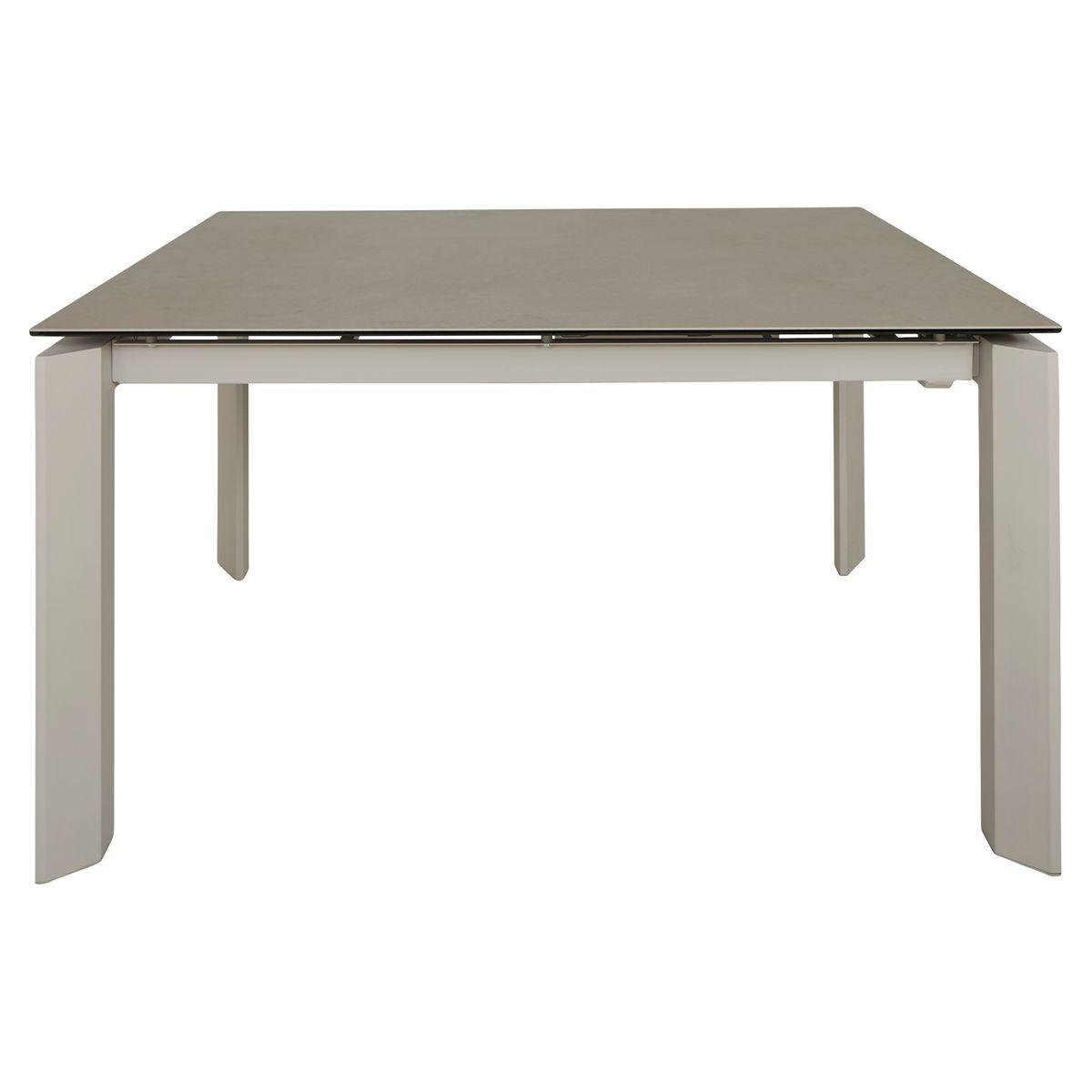 Table céramique extensible 160 x 90 cm avec allonge intégrée
