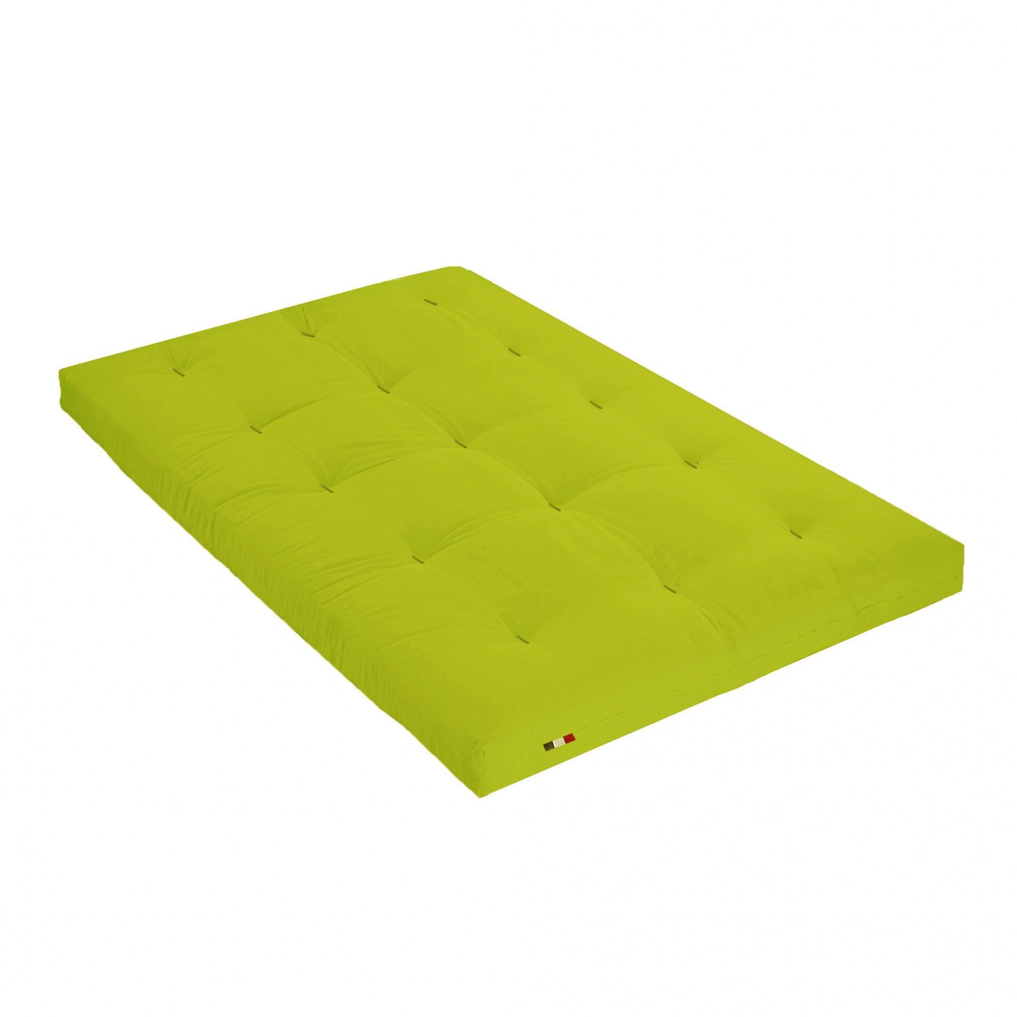 Matelas futon latex couleur pistache 160x200