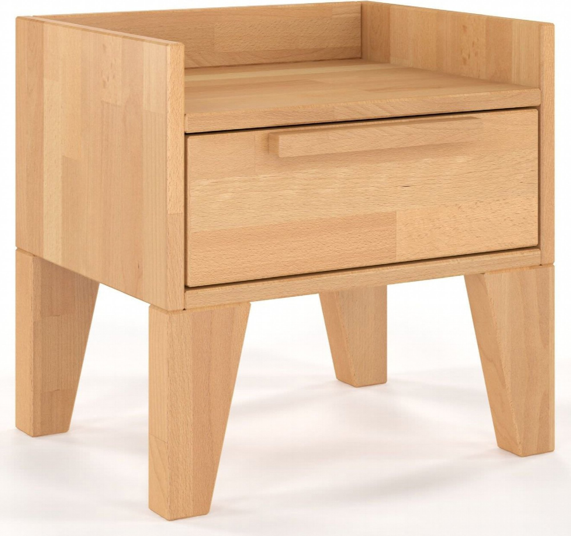 Table de chevet 1 tiroir en hêtre massif couleur bois clair