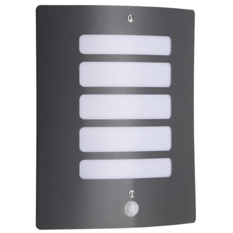 Applique d'extérieur avec détecteur gris H29cm
