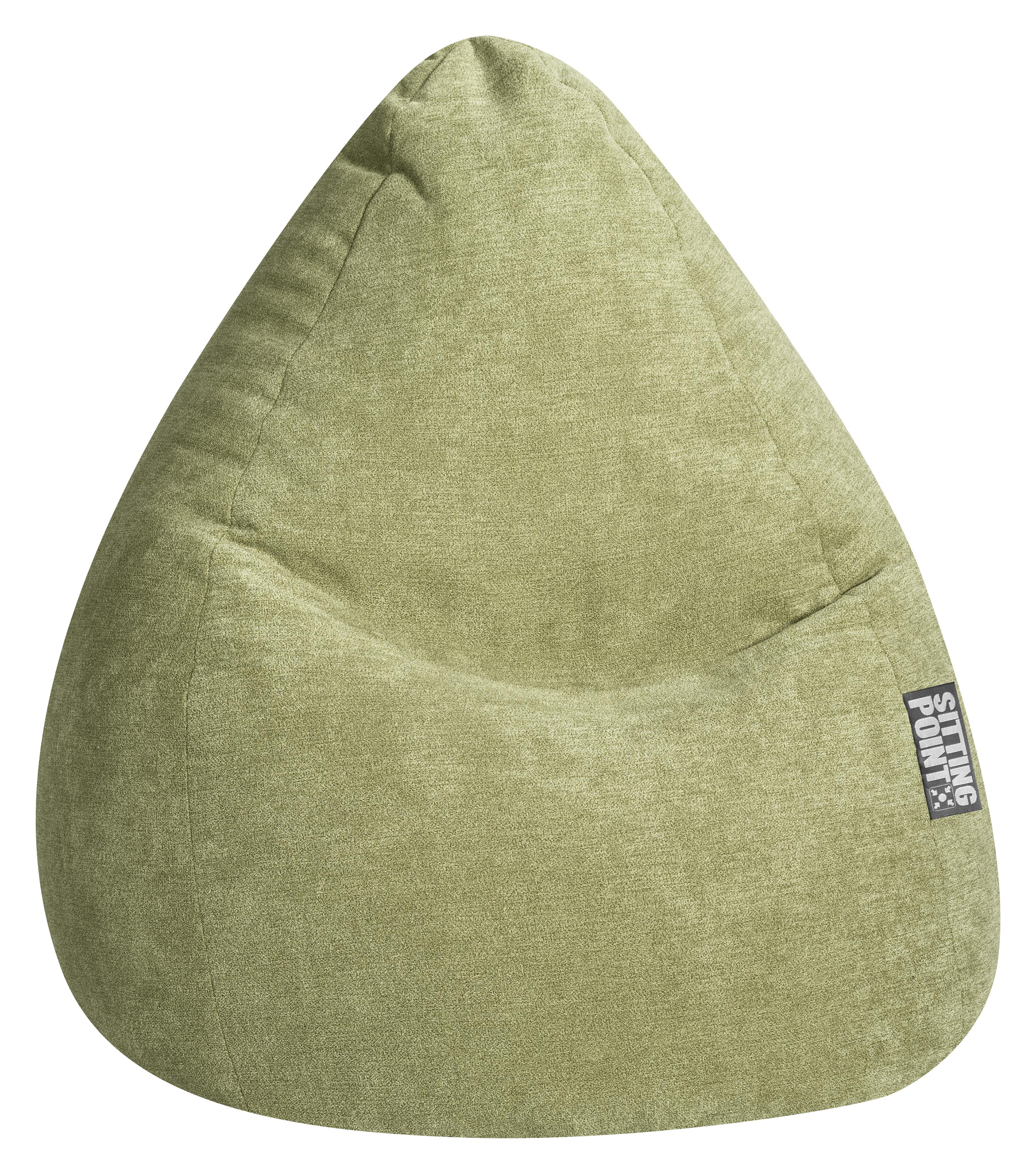 Pouf design d'intérieur en tissu vert