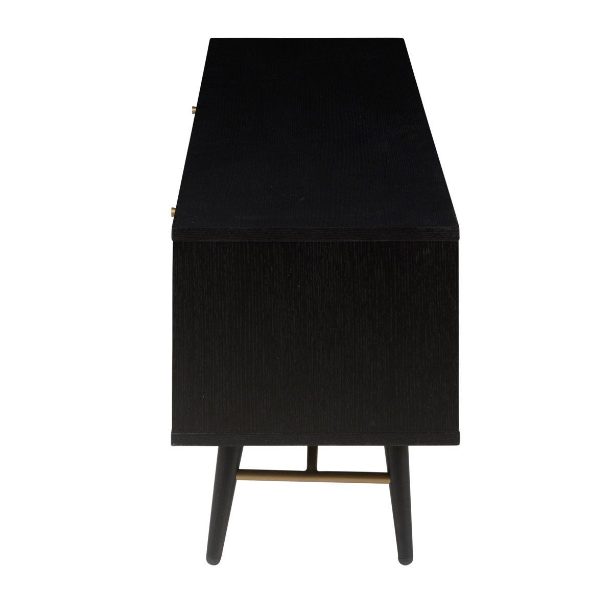 Meuble TV en chêne plaqué noir