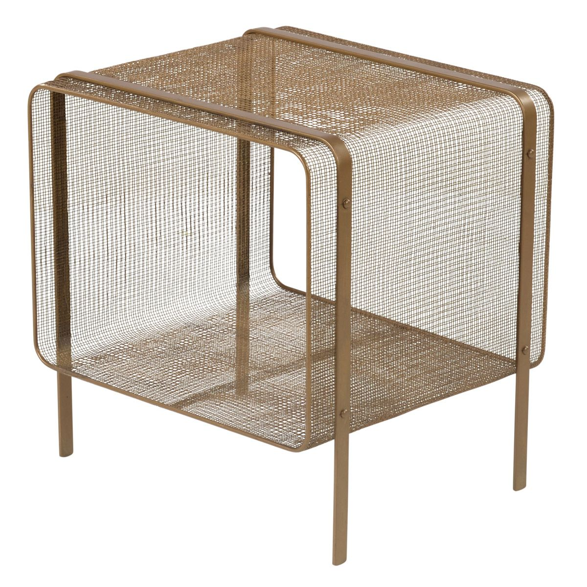 Bout de canapé en fer doré