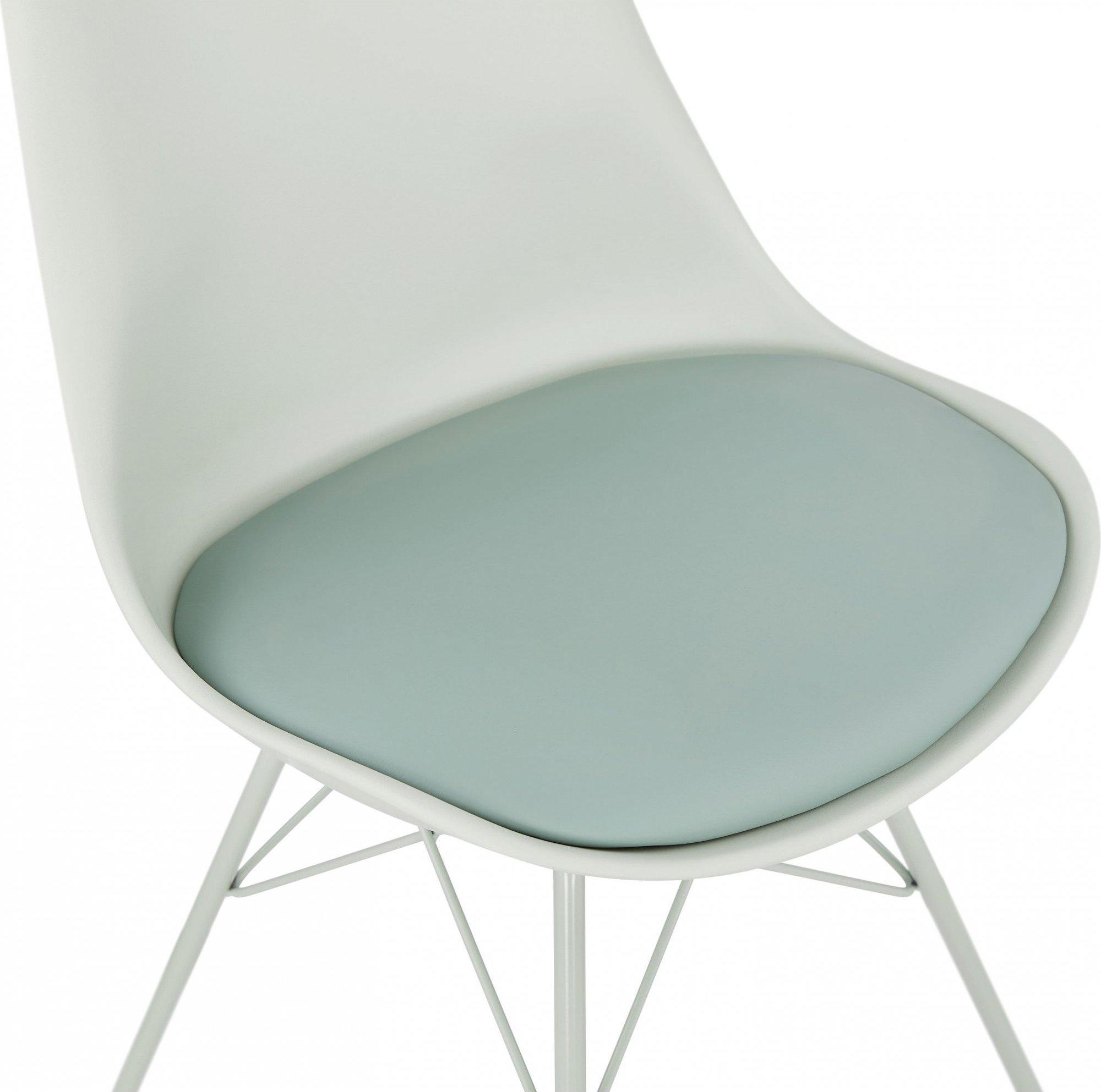 Chaise de cuisine rembourrée couleur vert pale
