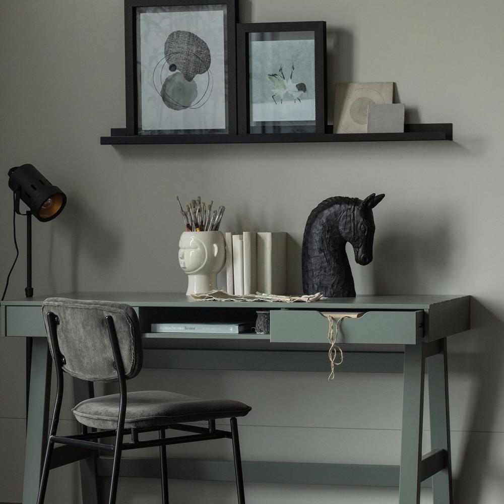 2 chaises en velours côtelé noir