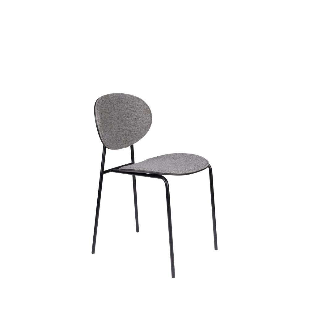 2 chaises en tissu gris clair