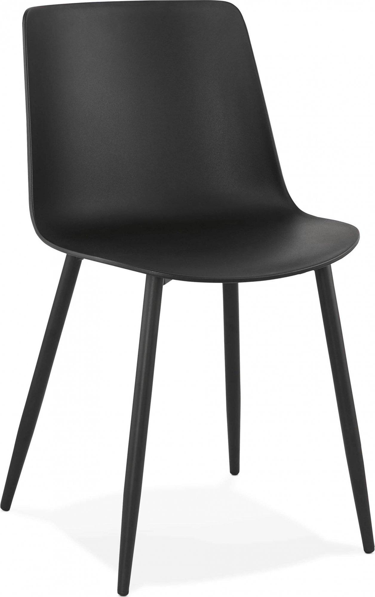Chaise design couleur noir