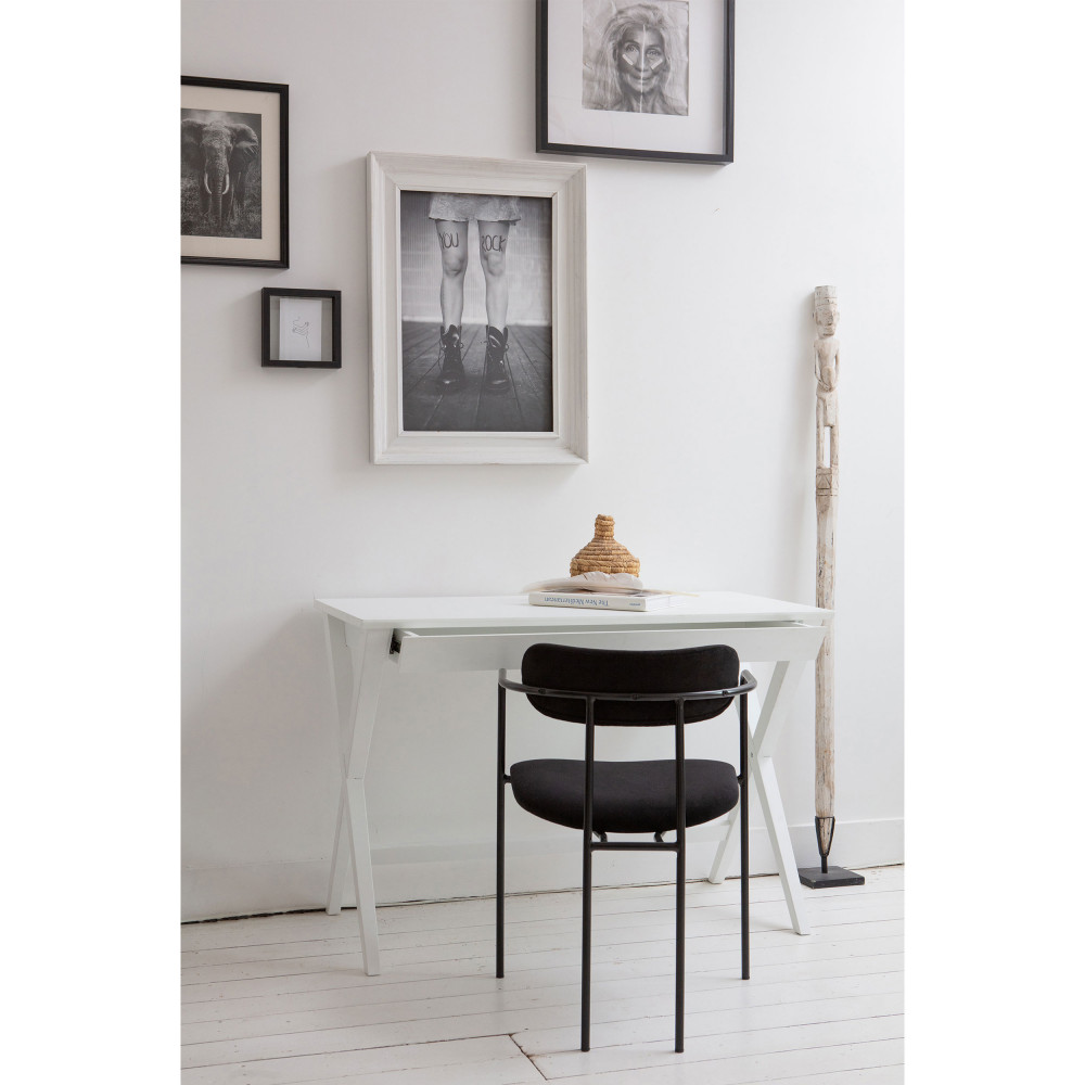 2 chaises avec accoudoirs velours et argent noir