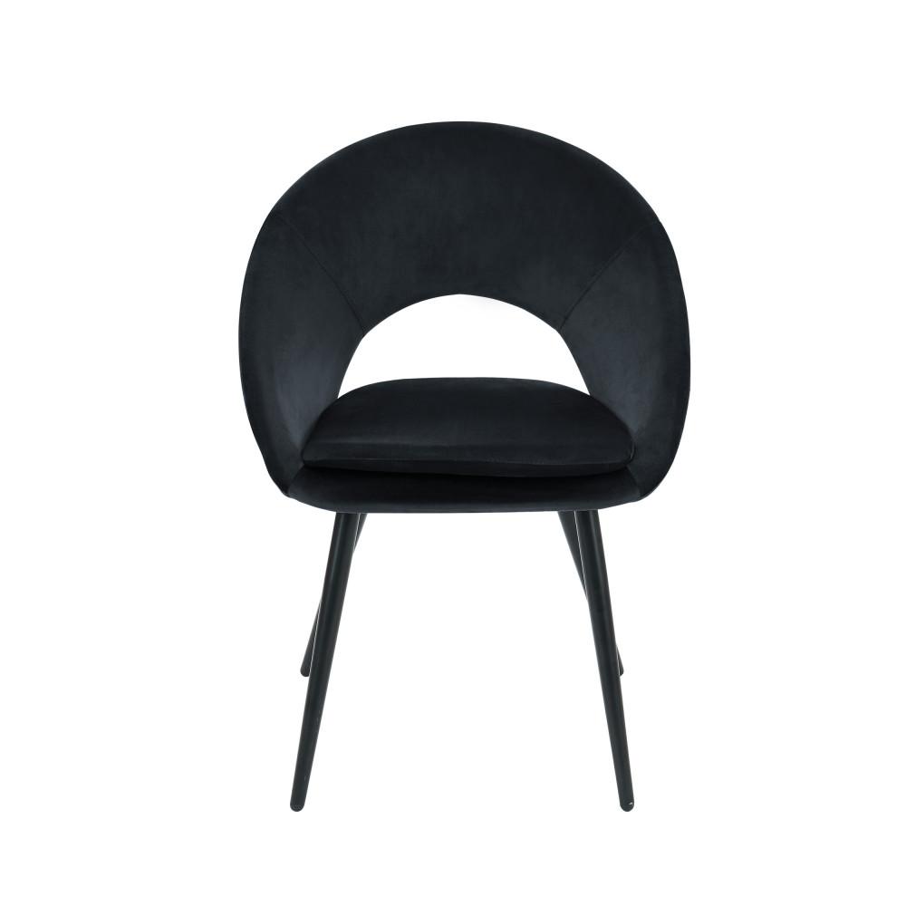 Fauteuil de table en velours noir