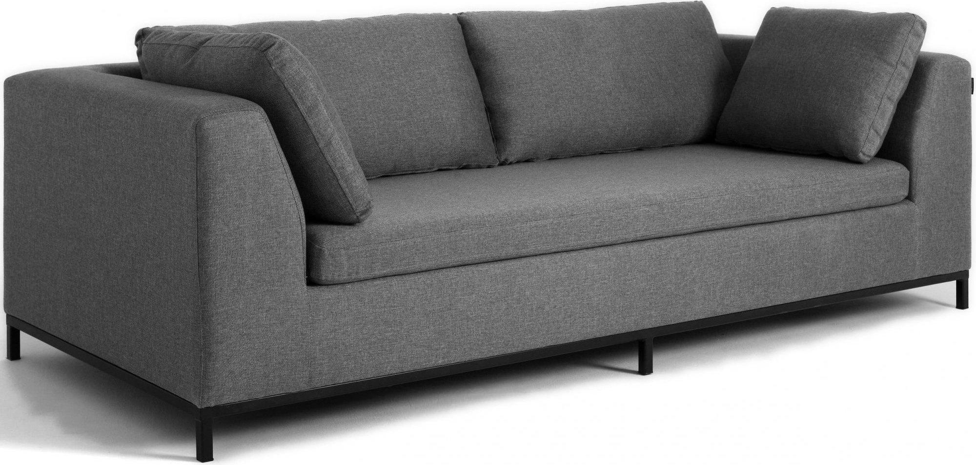 Canapé-lit 3 places tissu gris h42cm