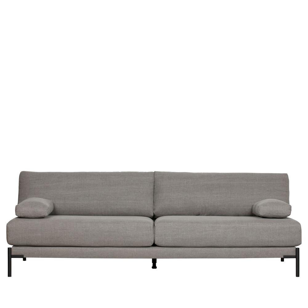 Canapé 3 places moderne tissu  Gris