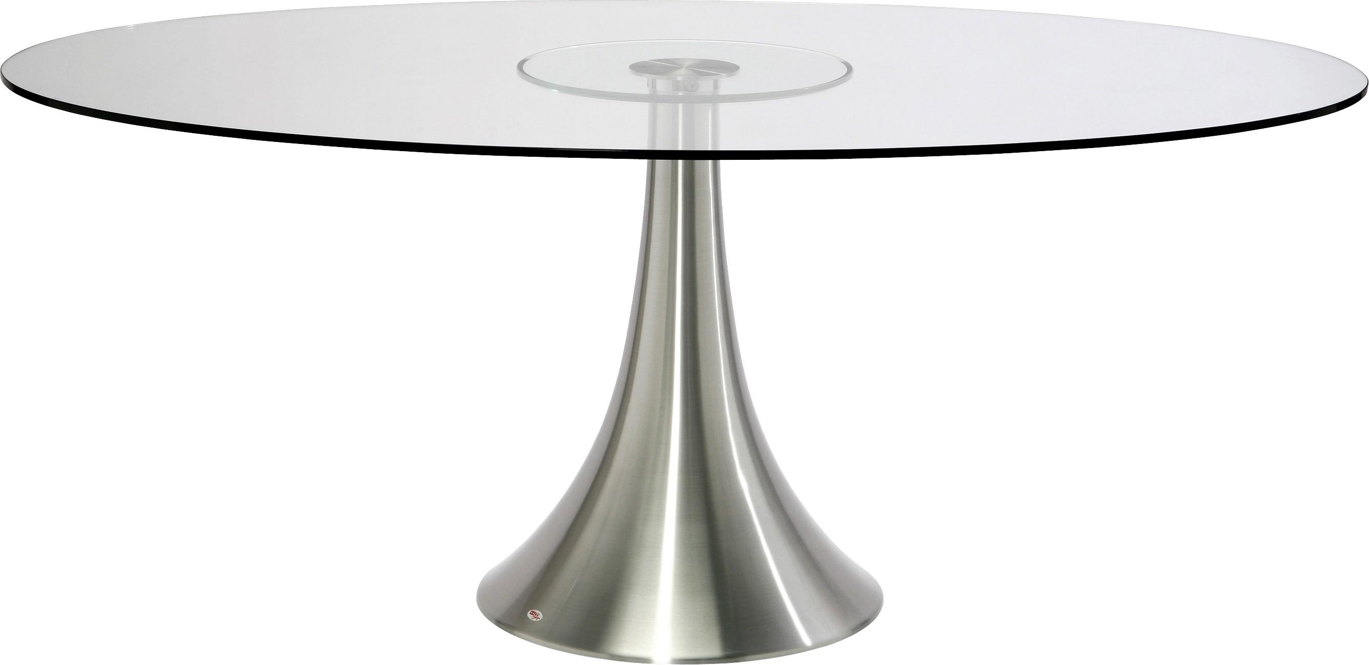 Table à manger 6 personnes en verre et aluminium