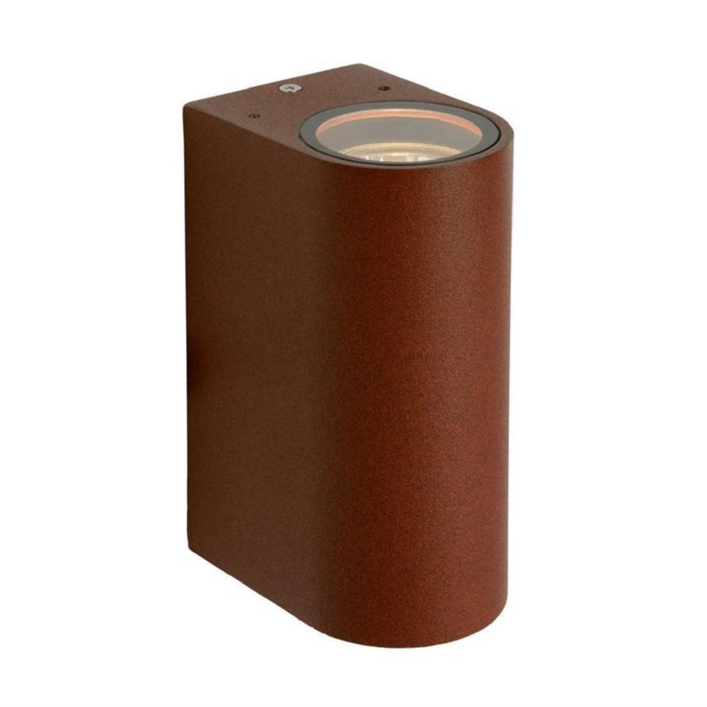 Applique d'extérieur 2 lumières métal marron H15cm