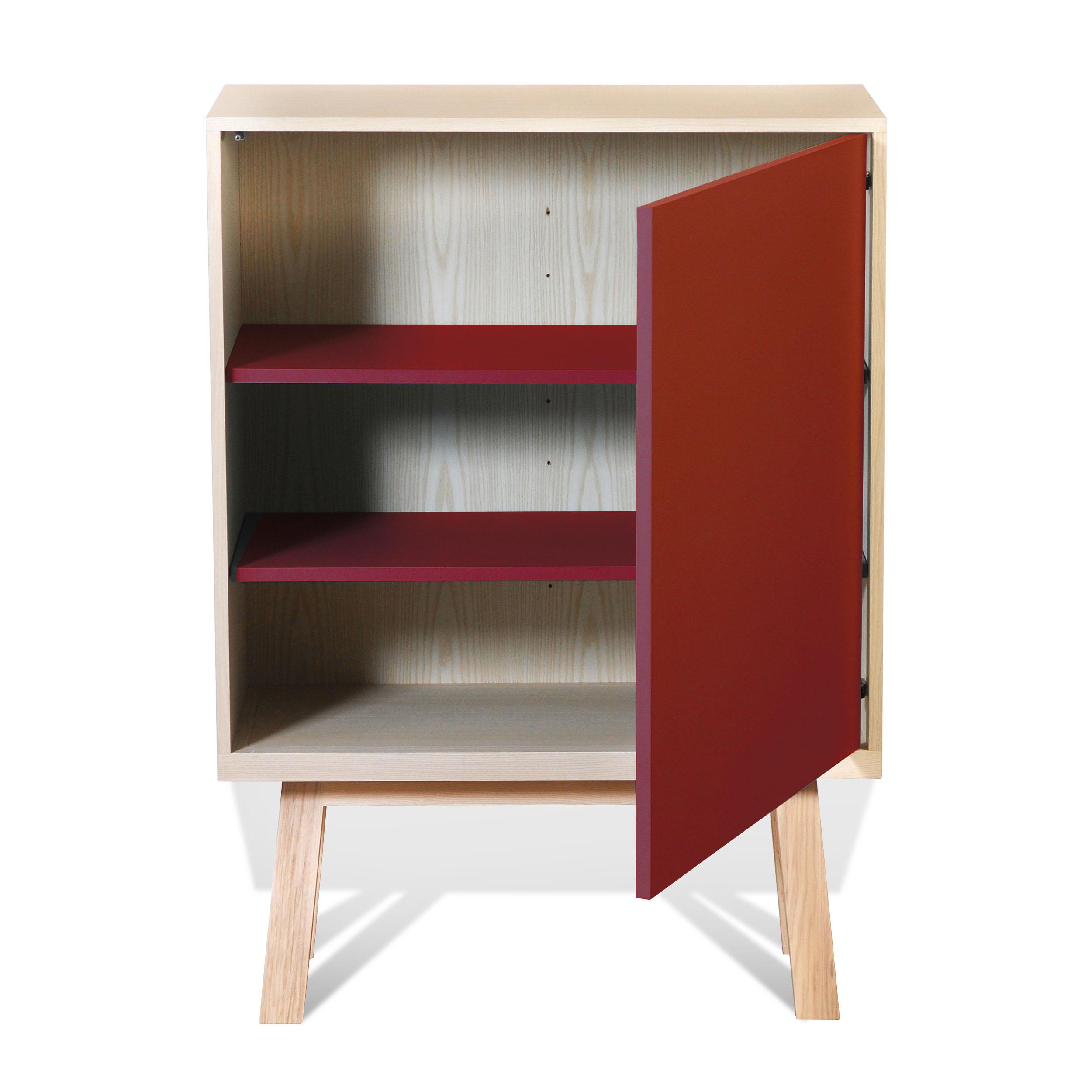 Armoire 1 porte en frêne rouge de pluduno