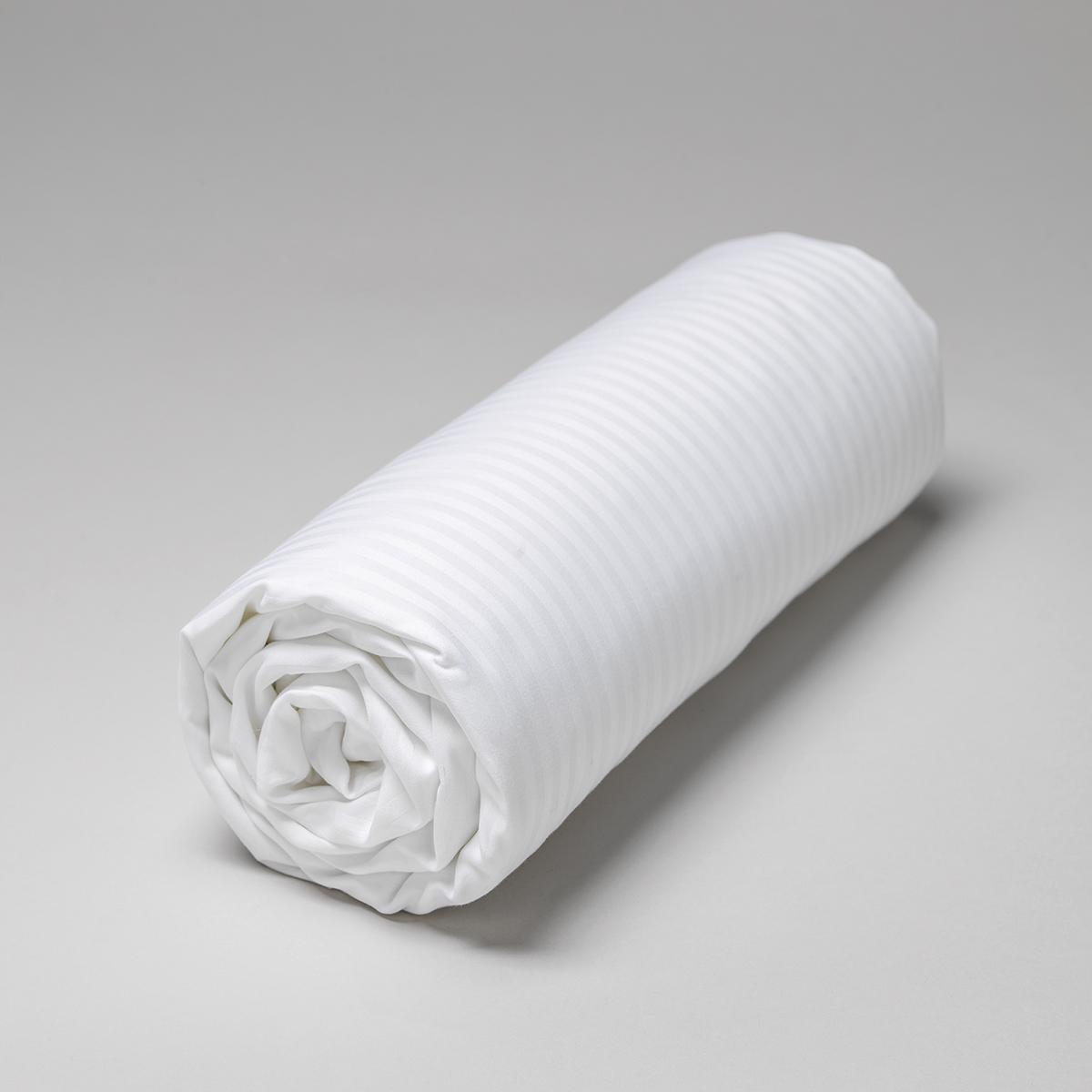 Drap housse satin de coton égyptien à bandes 120 fils 180x200