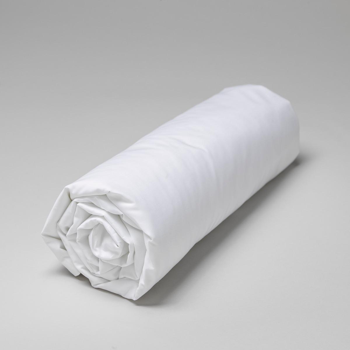 Drap housse percale de coton peigné 160 fils 80x200