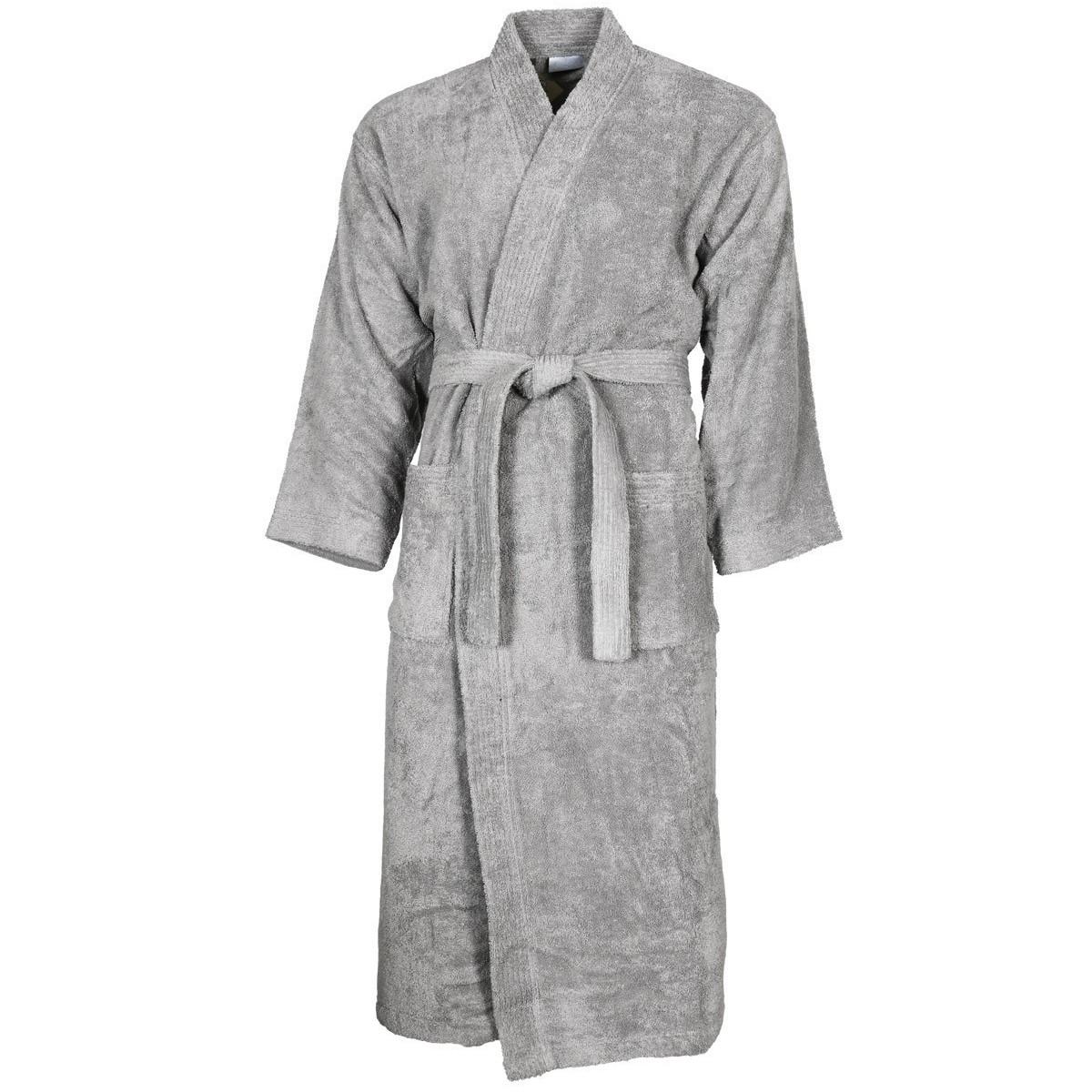 Peignoir col kimono Gris Perle XL