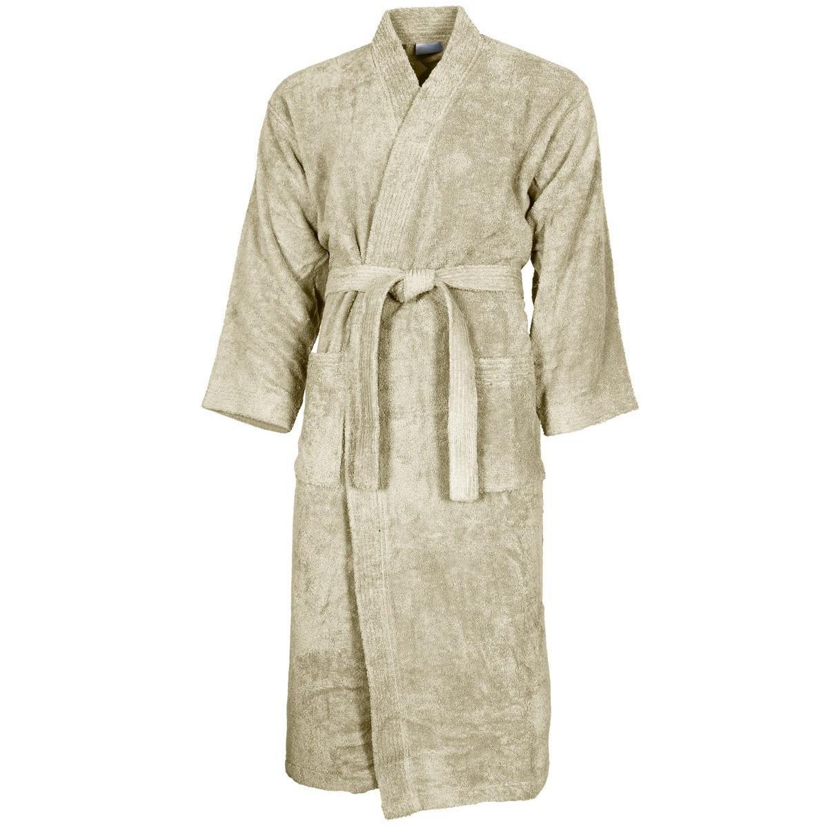 Peignoir col kimono Ficelle XL
