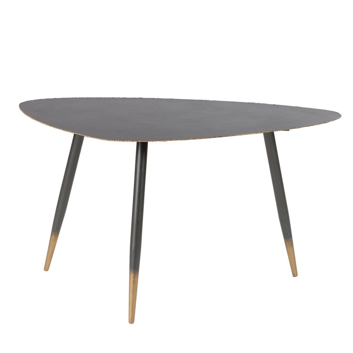 Table basse en métal 80 cm