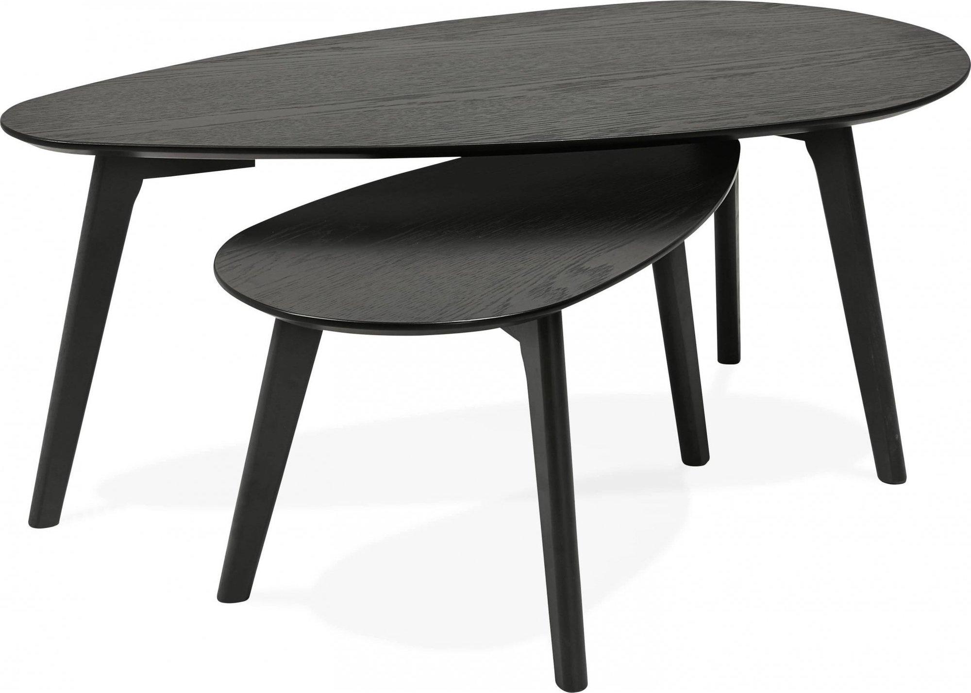 Table basse gigogne en chêne noir