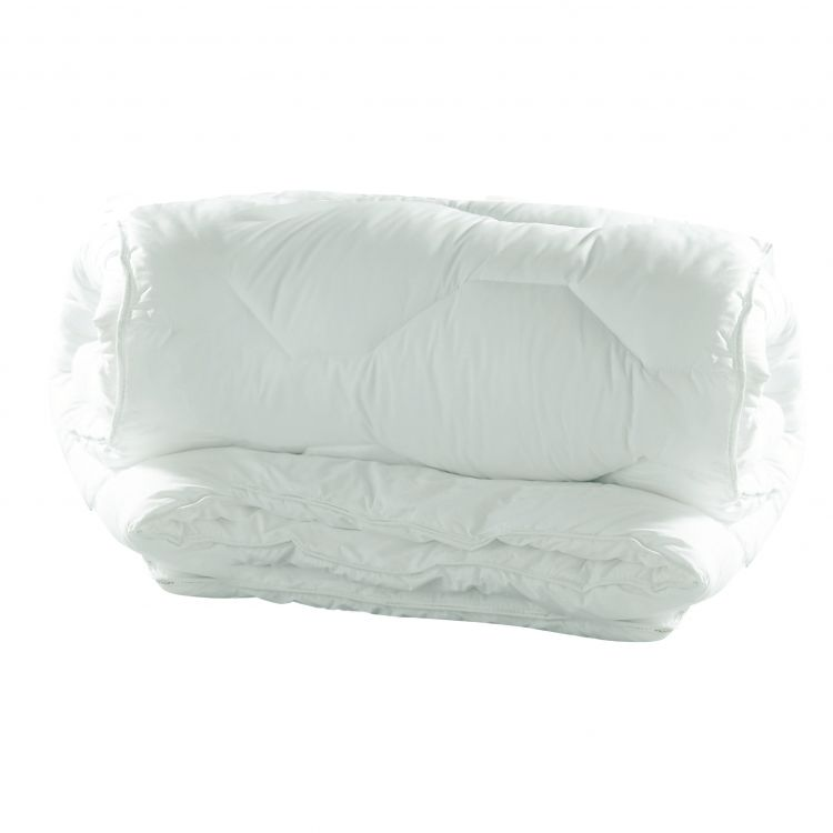 Couette synthétique en polyester blanc 140x200
