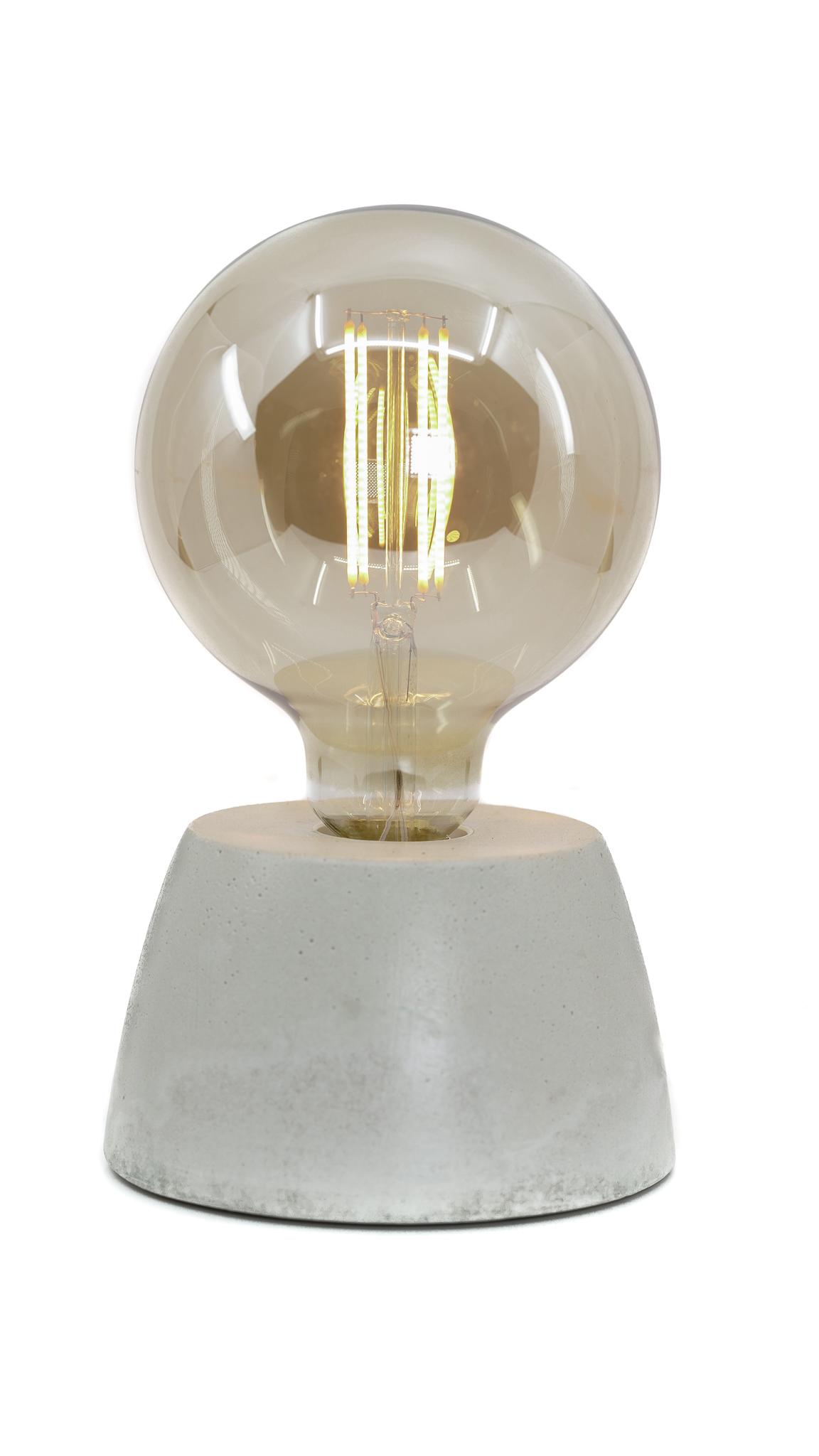 Lampe dôme en béton beige fabrication artisanale