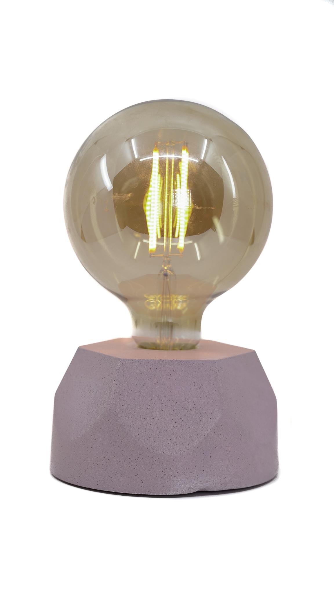 Lampe hexagone en béton rose fabrication artisanale