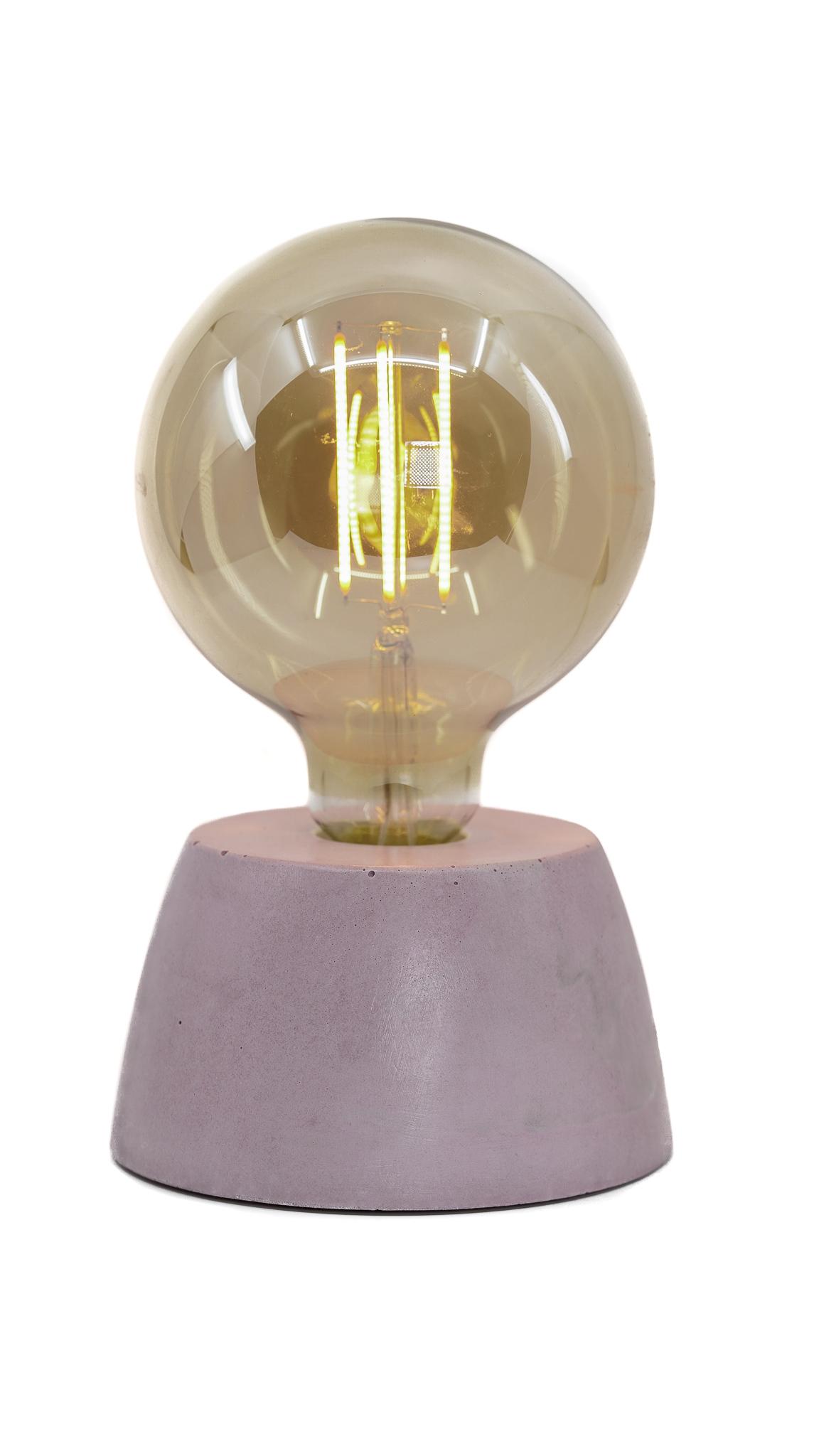 Lampe dôme en béton rose pastel fabrication artisanale