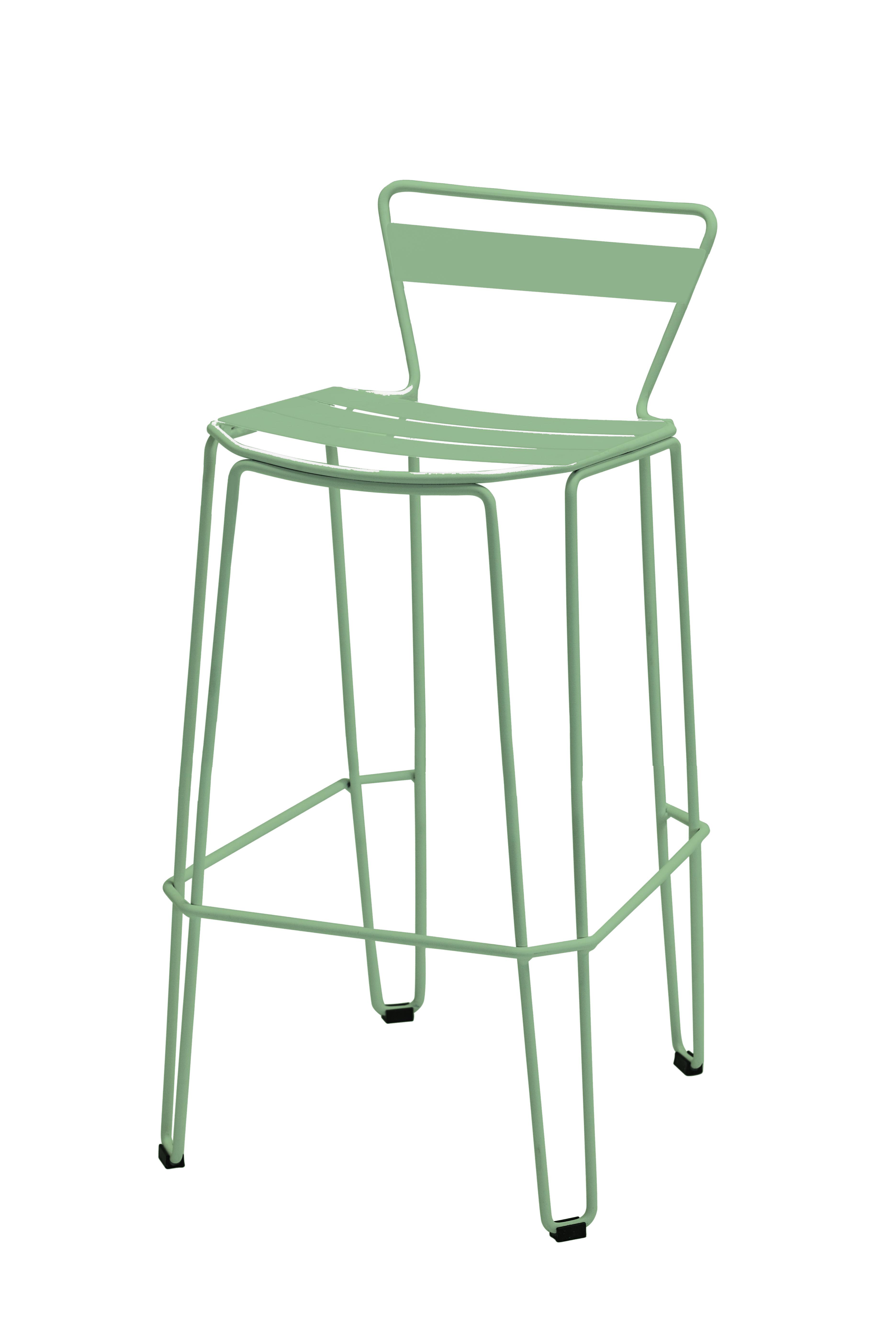 MALLORCA - Chaise haute en acier vert