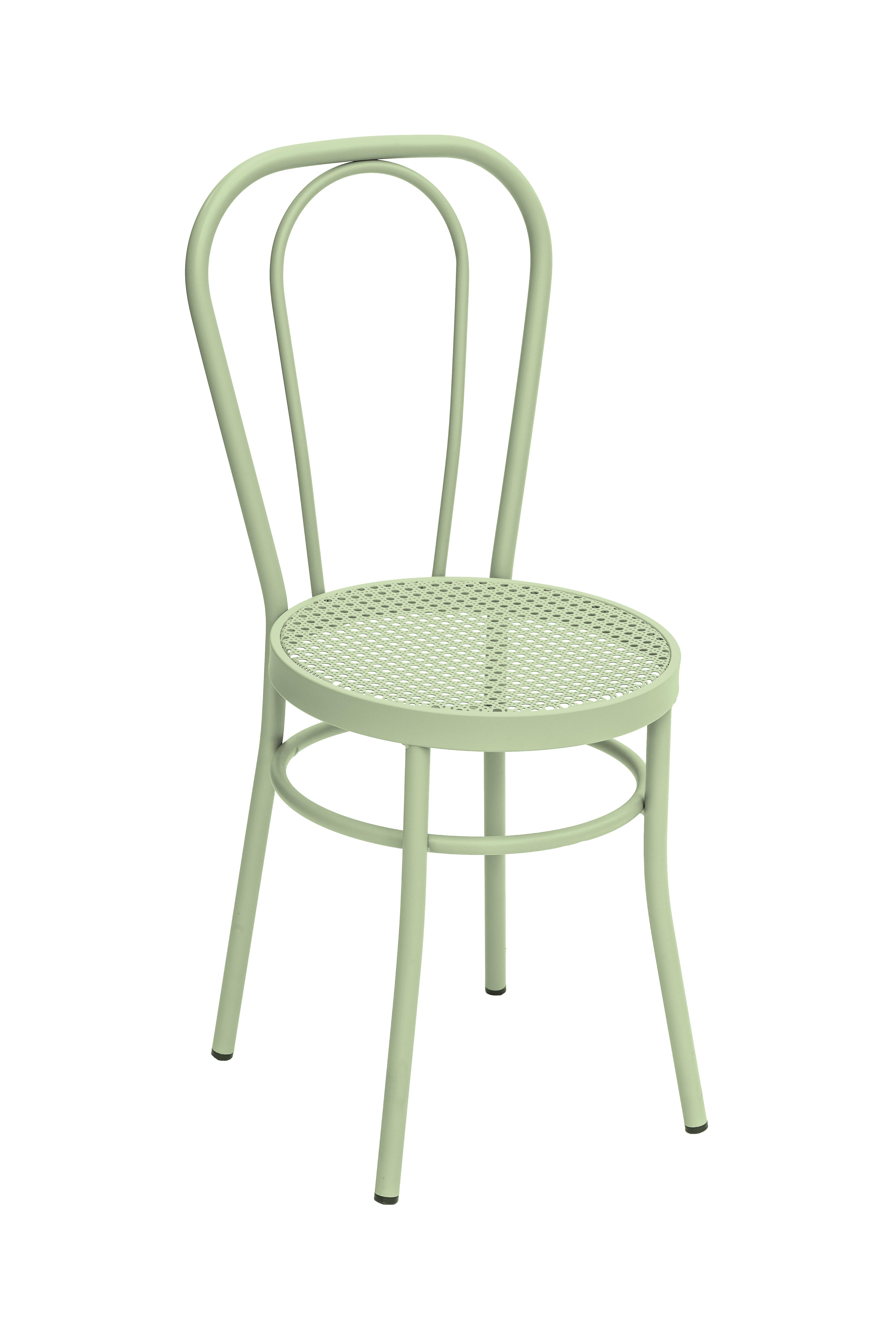 Chaise en acier vert