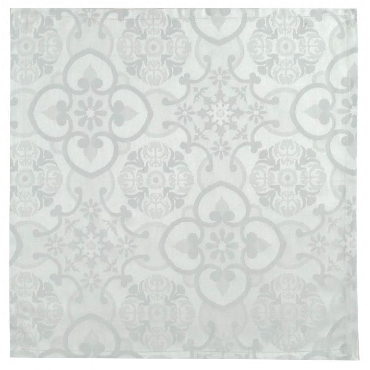 Serviette de table en 100% coton gris 47x47