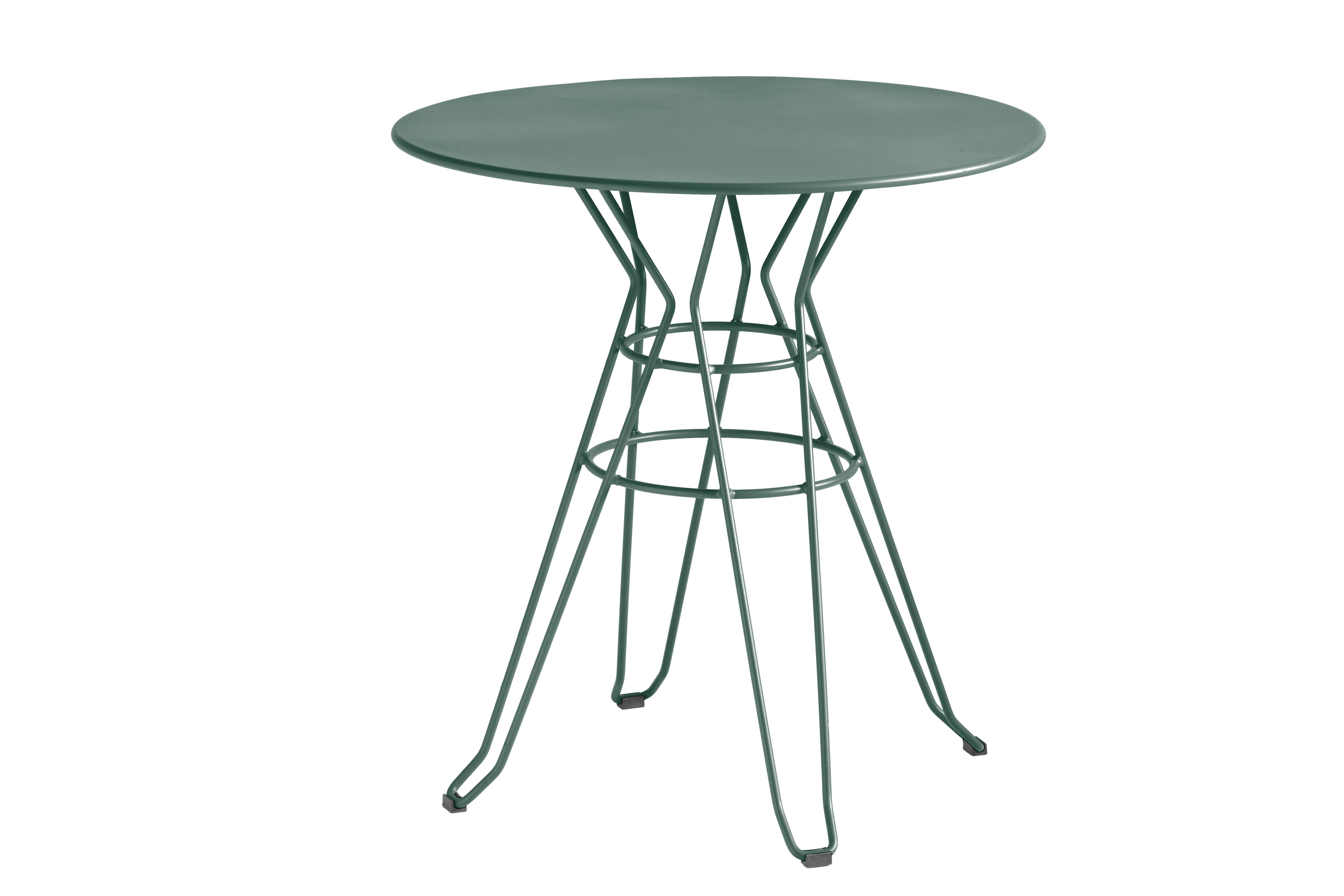 CAPRI - Table rond en acier vert D80