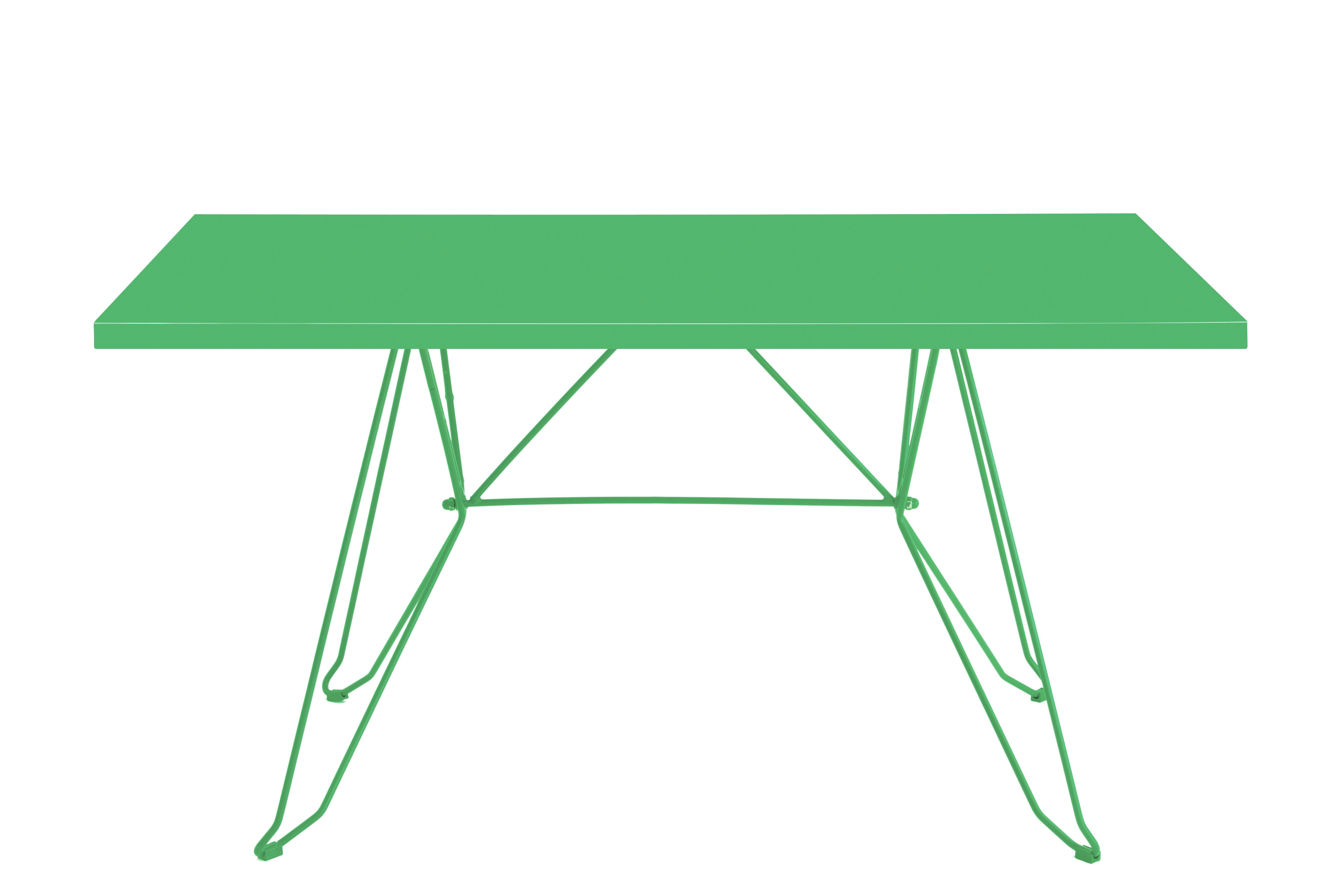 CADAQUÉS - Table 4 places en acier vert