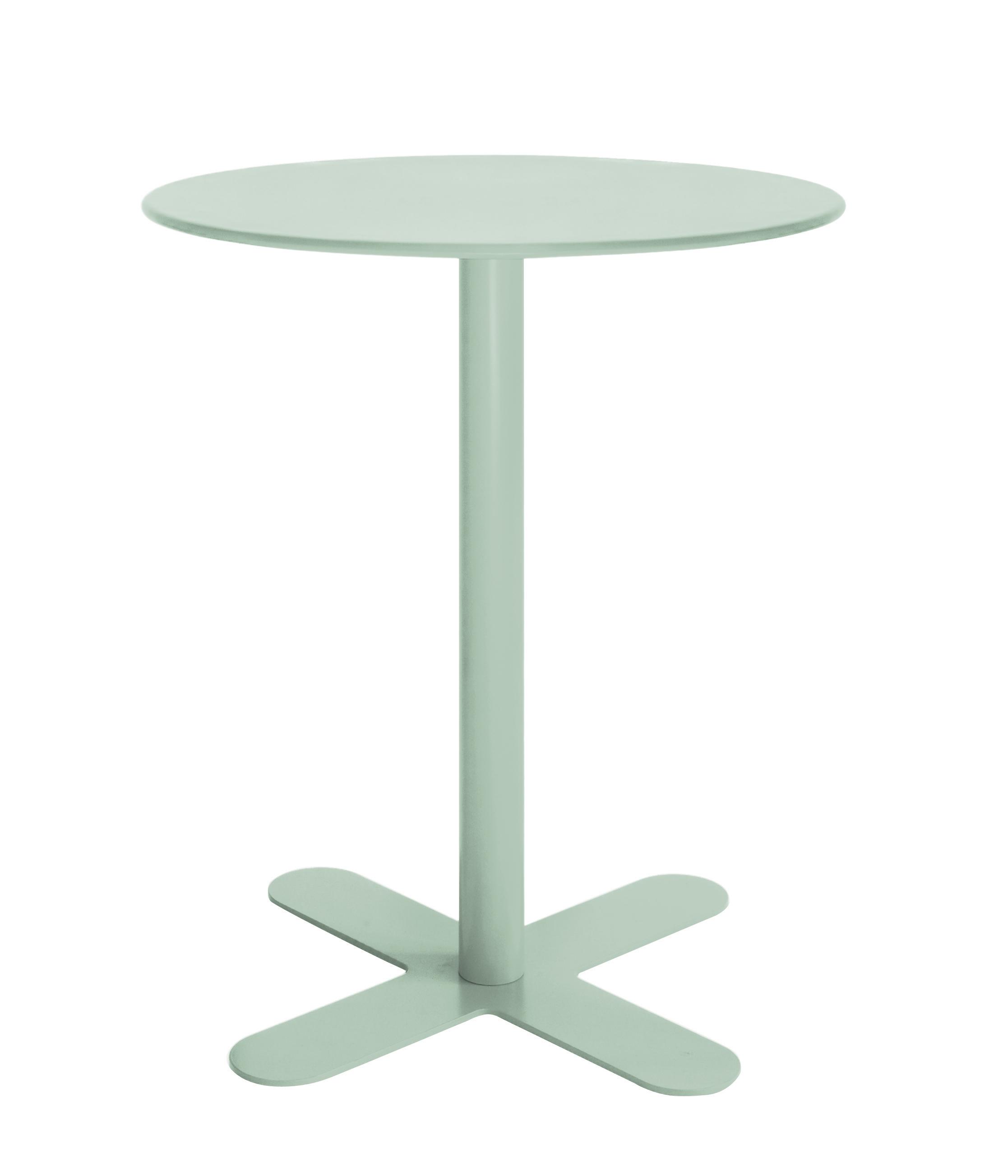 Table en acier vert