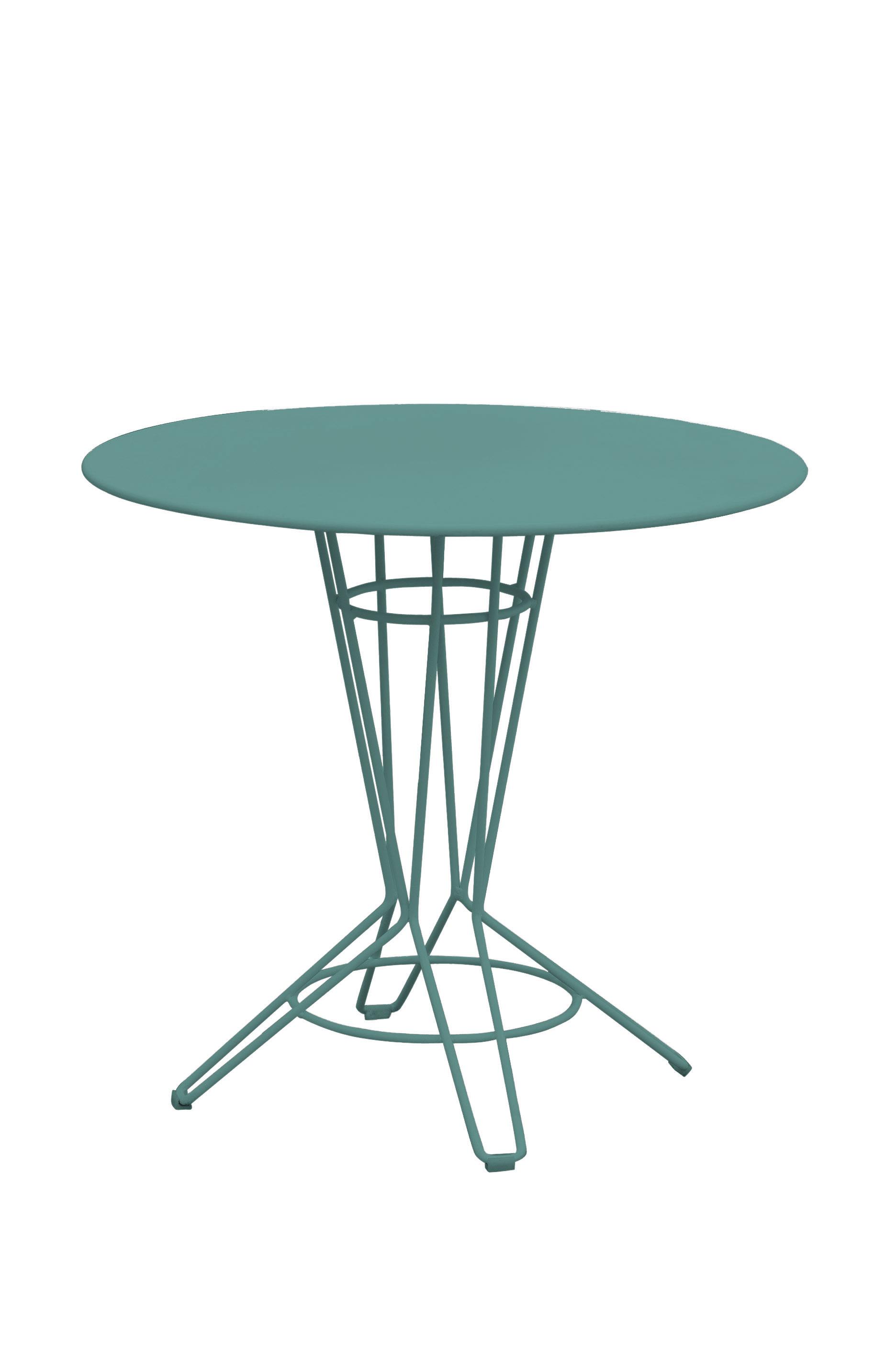 NOSTRUM - Table rond en acier vert émeraude D80