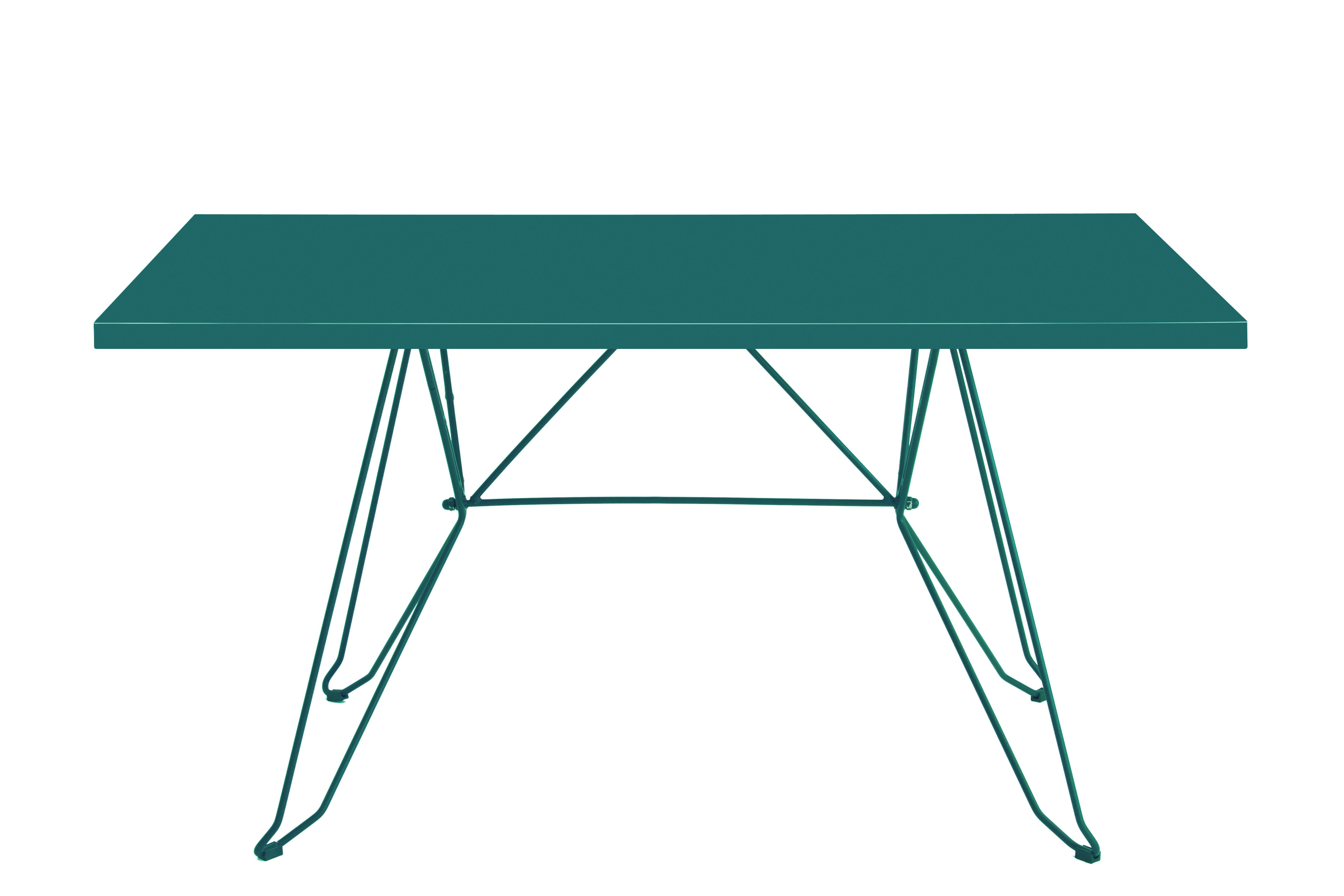 CADAQUÉS - Table 4 places en acier émeraude