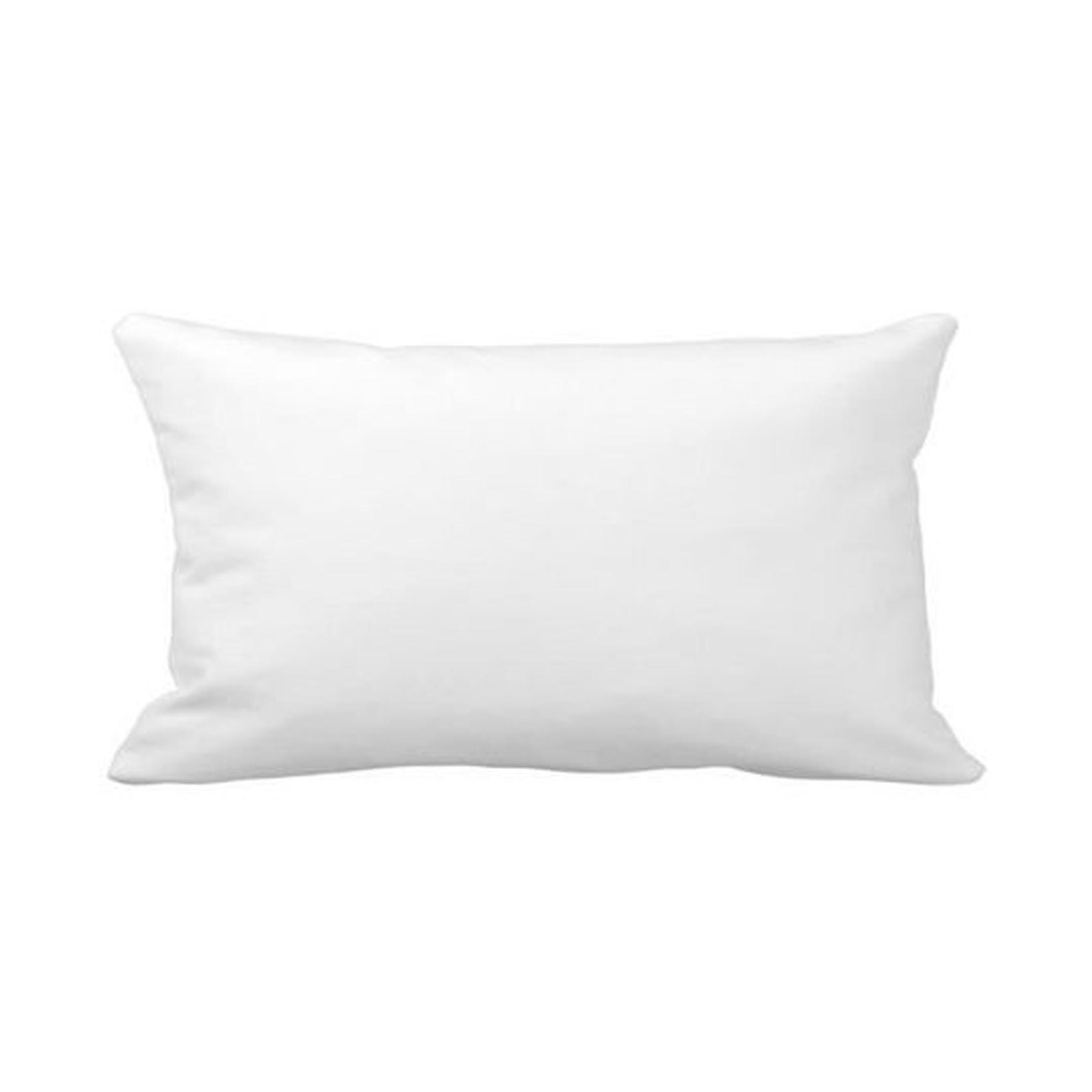 Coussin de garnissage en coloris blanc polyester blanc 50x30