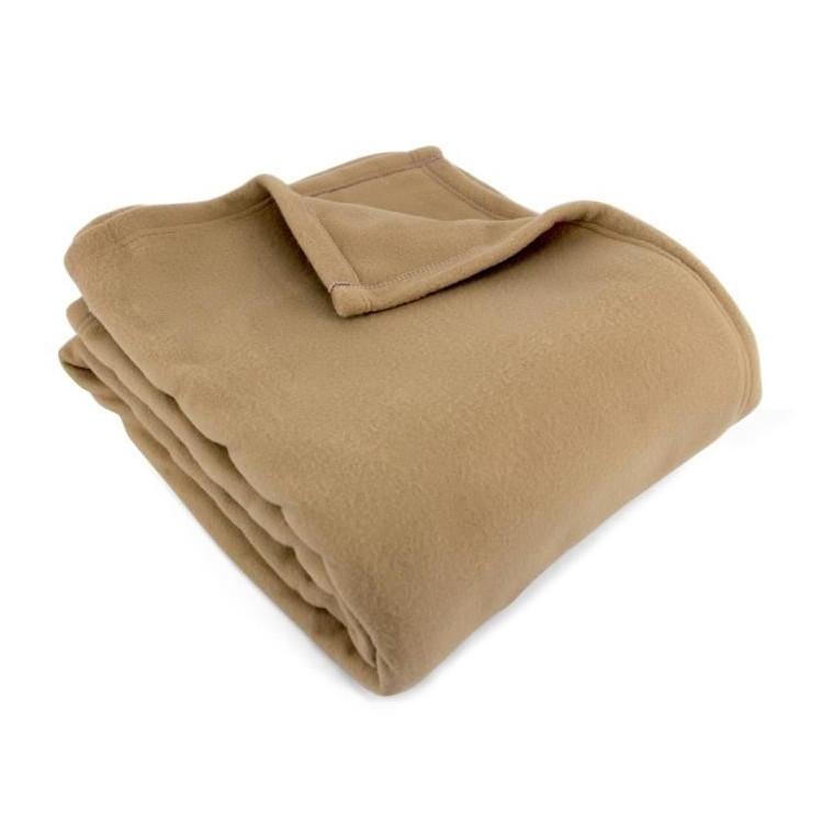 Couverture en tissu beige 240x220