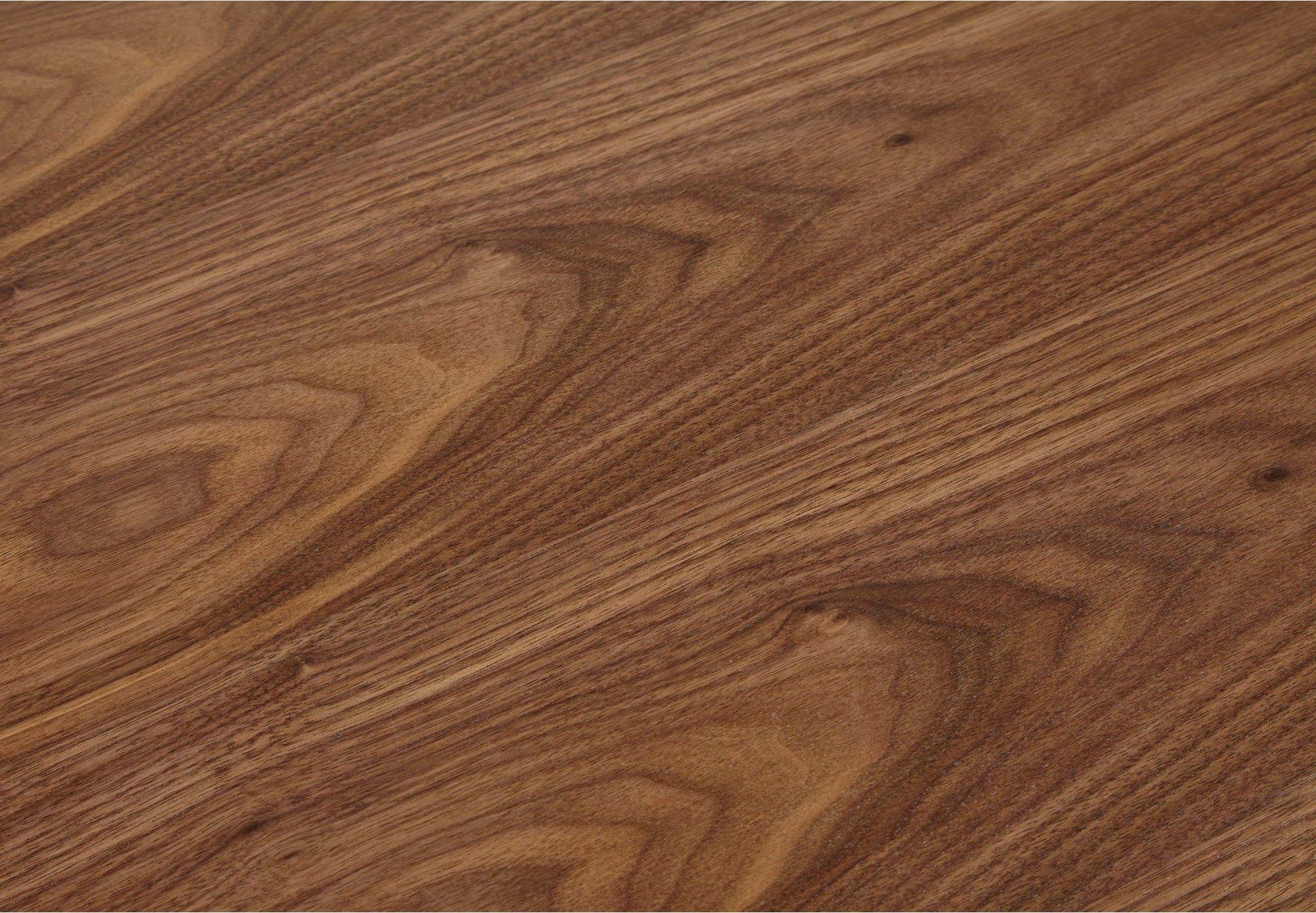 Bureau desgn plateau en bois foncé pieds métal laqué blanc