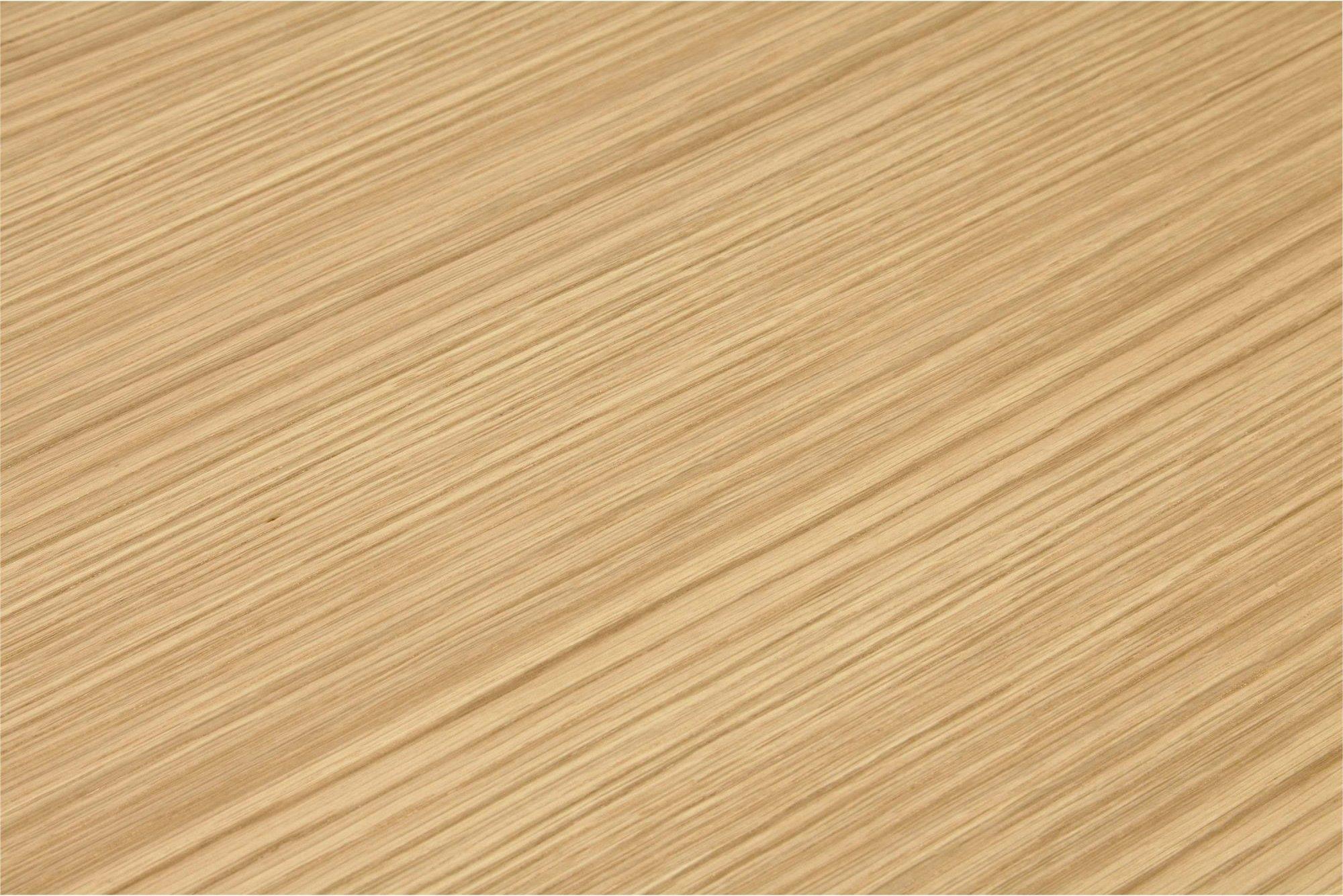 Bureau desgn plateau en bois clair pieds métal laqué blanc