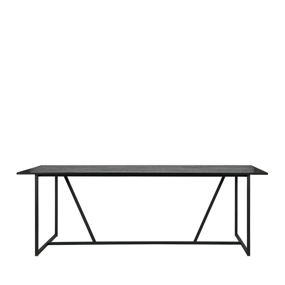 maison du monde Table à manger en frêne brossé 220x90 cm noir